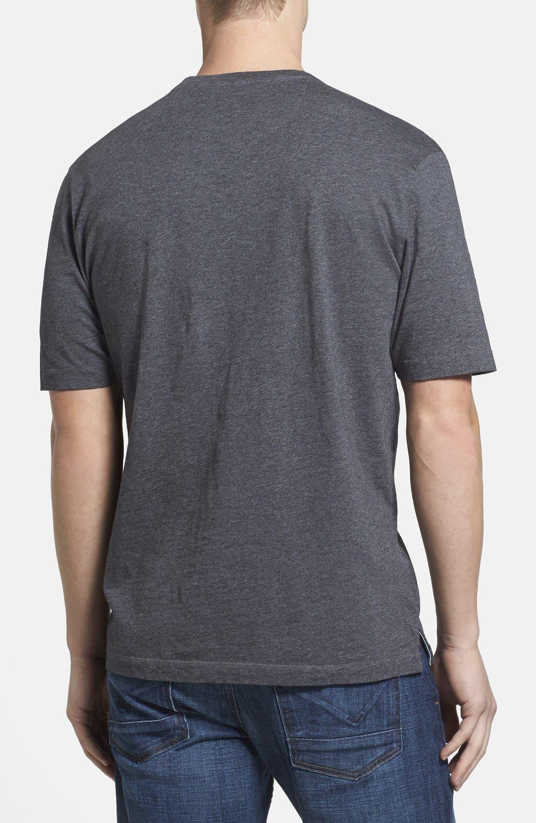 TOMMY BAHAMA, 'New Bali Sky' Original Fit Crewneck Pocket T-Shirt, Alternate thumbnail 8, color, CHARCOAL HEATHER
