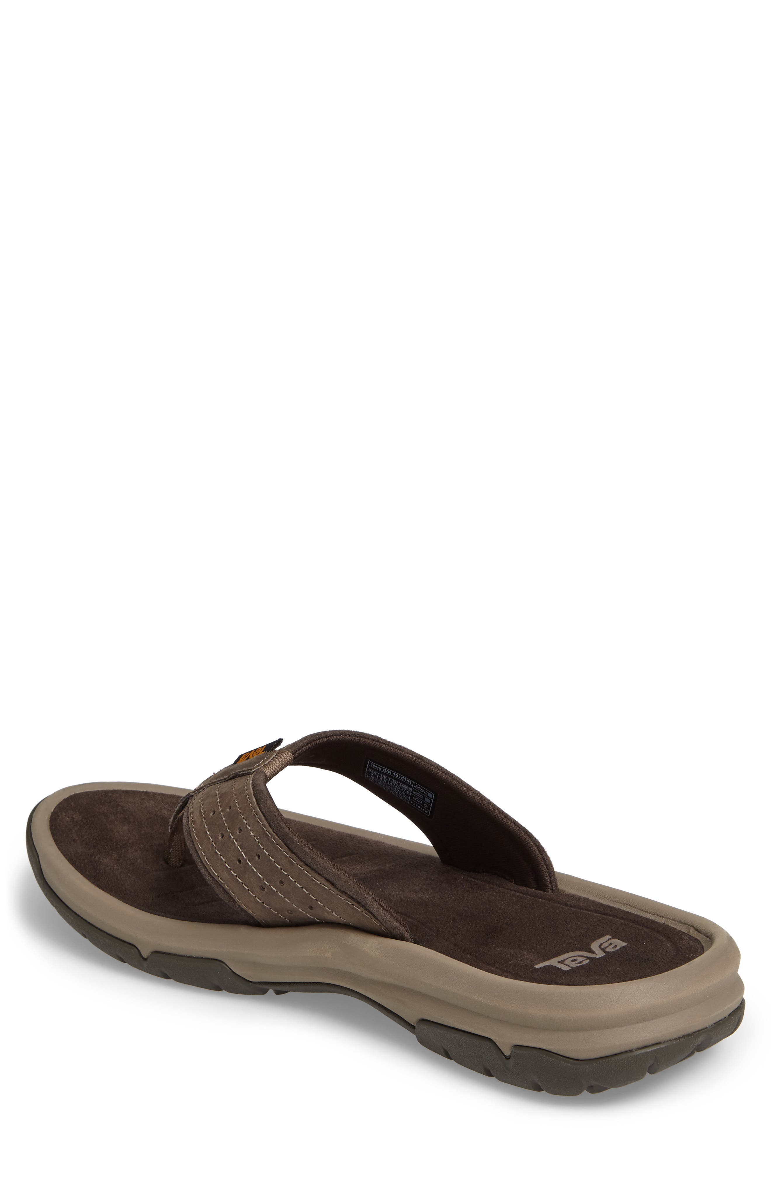 TEVA, Langdon Flip Flop, Alternate thumbnail 2, color, WALNUT