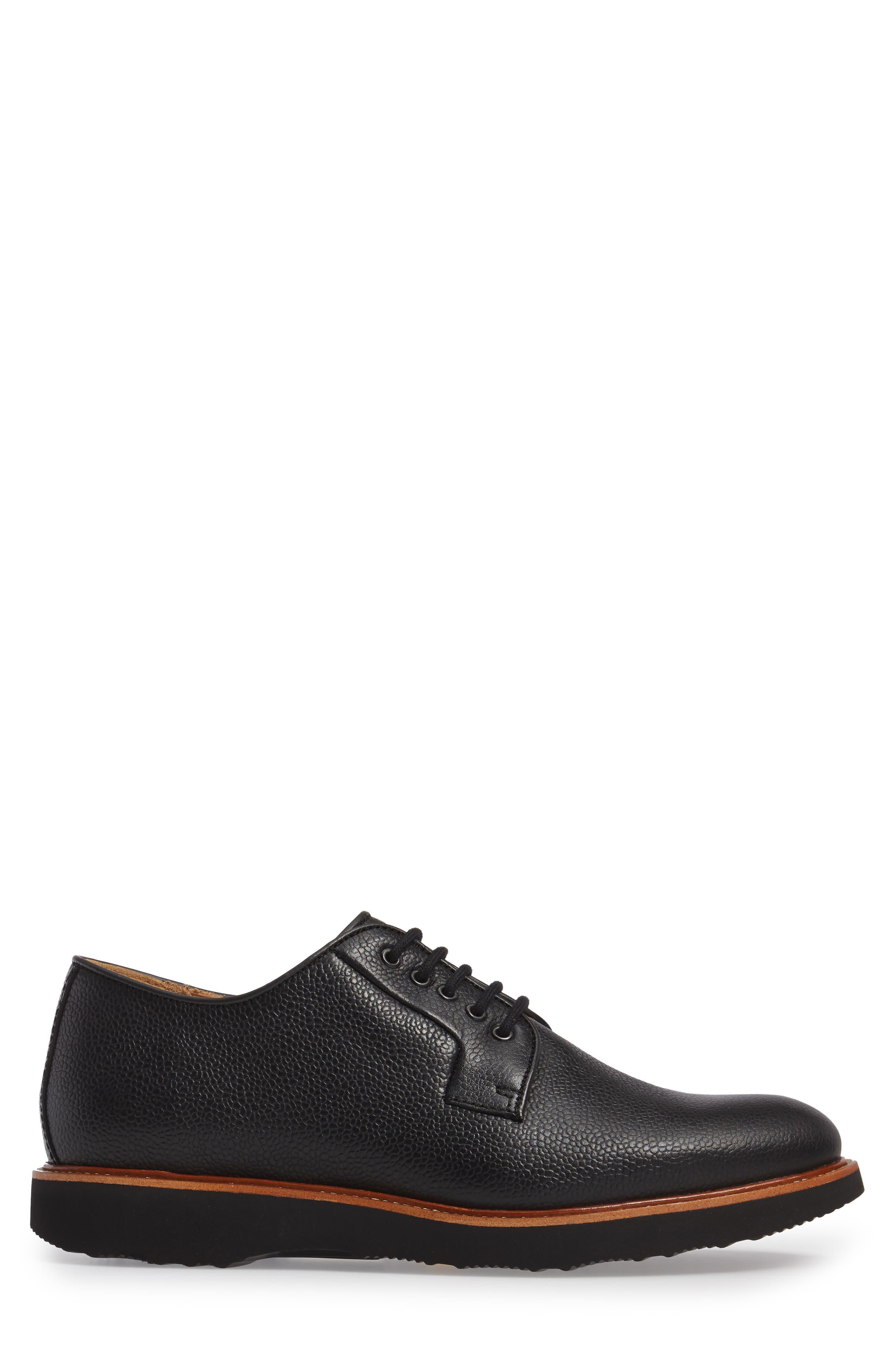 SAMUEL HUBBARD, Highlander Plain Toe Derby, Alternate thumbnail 3, color, BLACK PEBBLE GRAIN