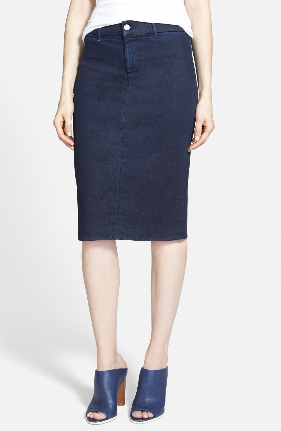J BRAND 'Willa' High Rise Pencil Skirt, Main, color, 400
