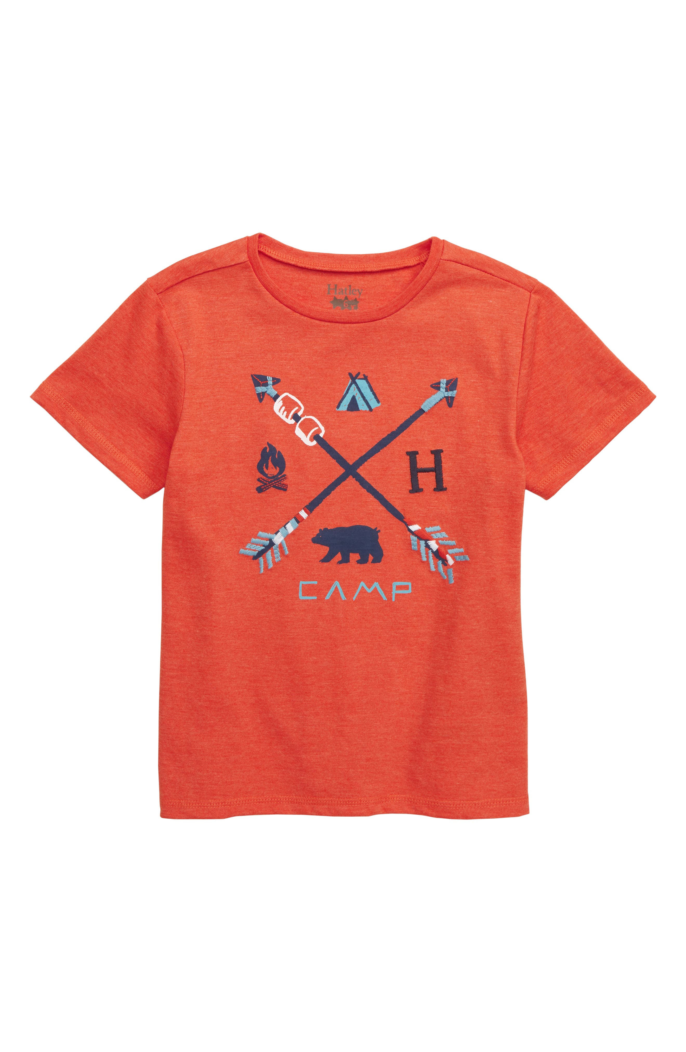 HATLEY Retro Camp Graphic T-Shirt, Main, color, ORANGE