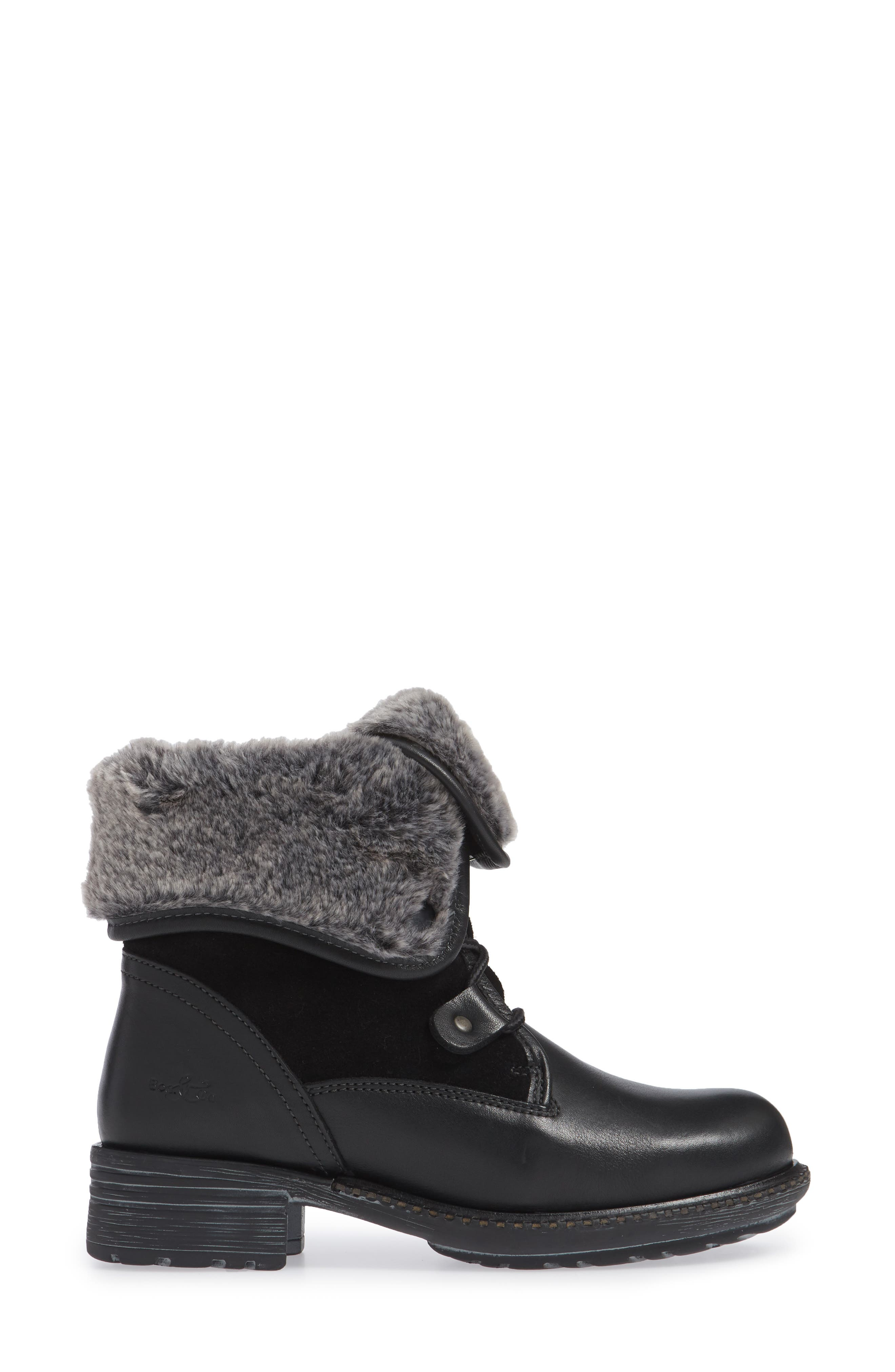BOS. & CO., Springfield Waterproof Winter Boot, Alternate thumbnail 3, color, BLACK LEATHER