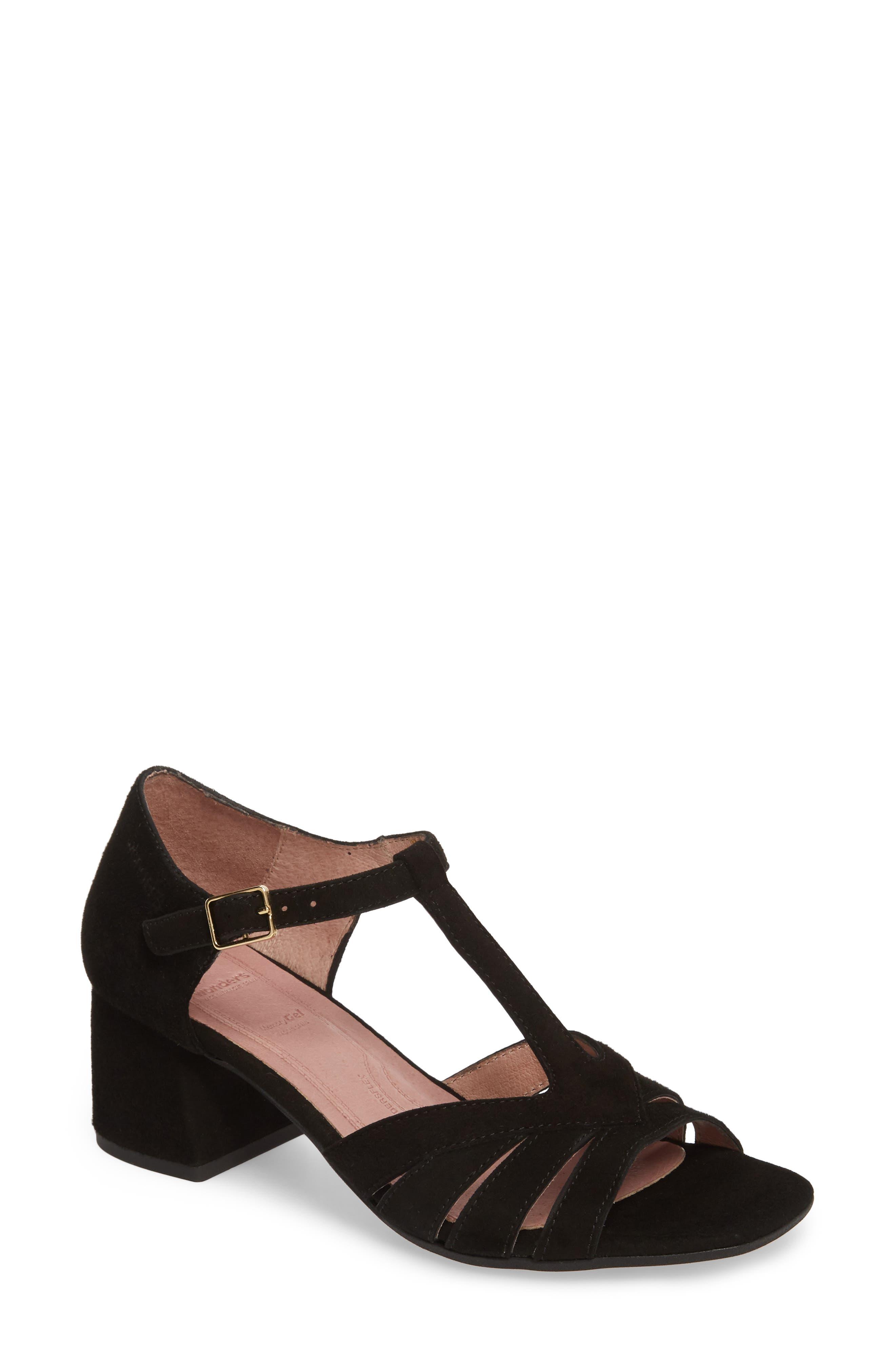 Wonders Block Heel Sandal - Black