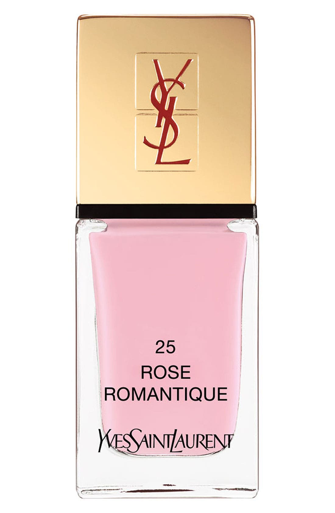 YVES SAINT LAURENT, La Laque Couture Nail Lacquer, Main thumbnail 1, color, 25 ROSE ROMANTIQUE