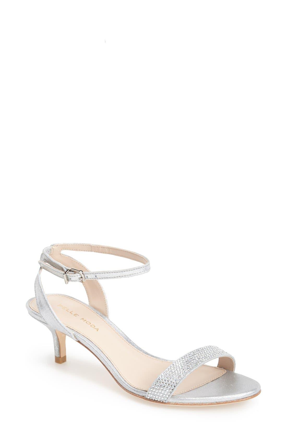 PELLE MODA 'Fabia' Sandal, Main, color, SILVER