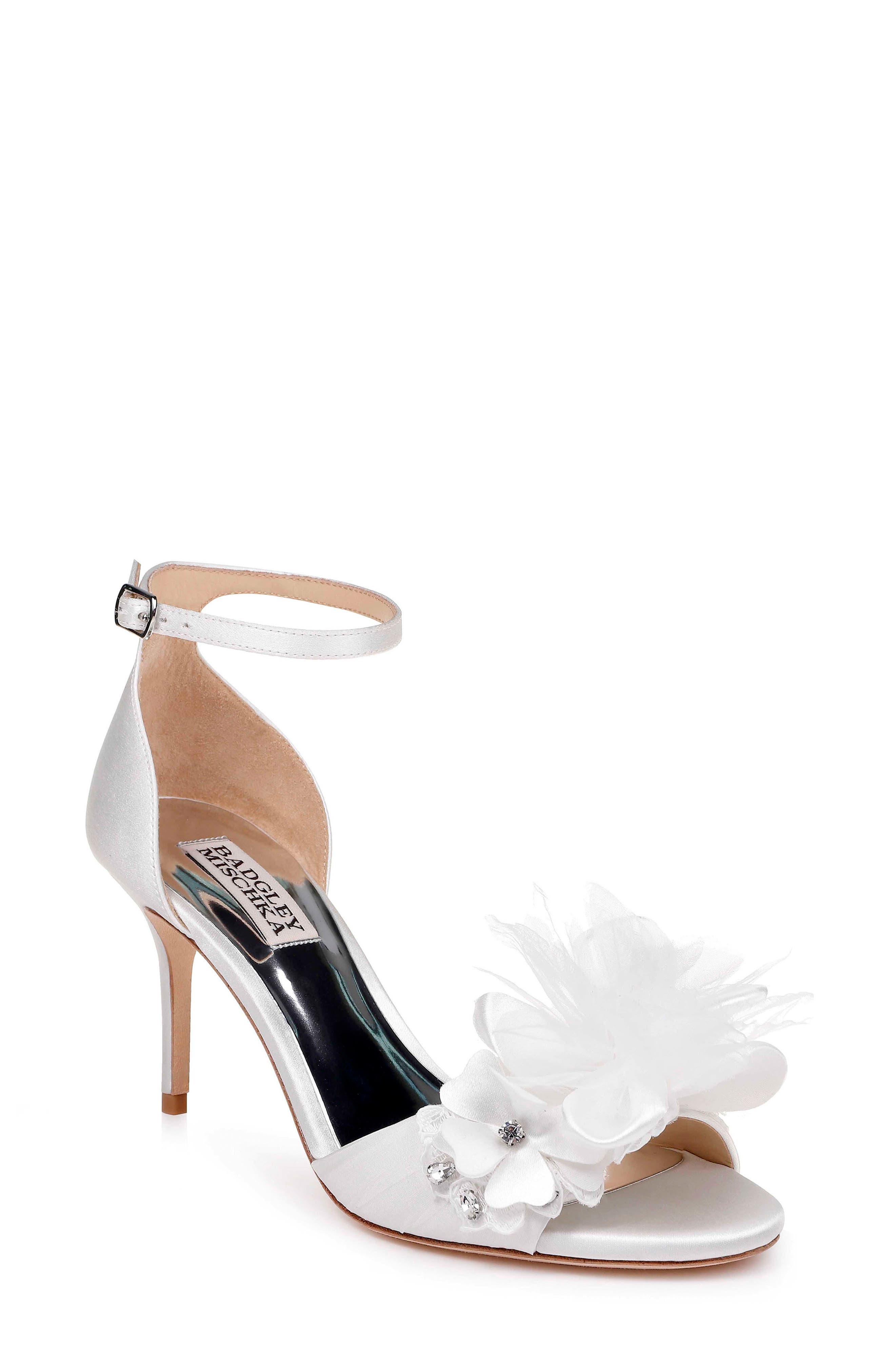 f933f9747 Badgley Mischka Floral Ankle Strap Sandal
