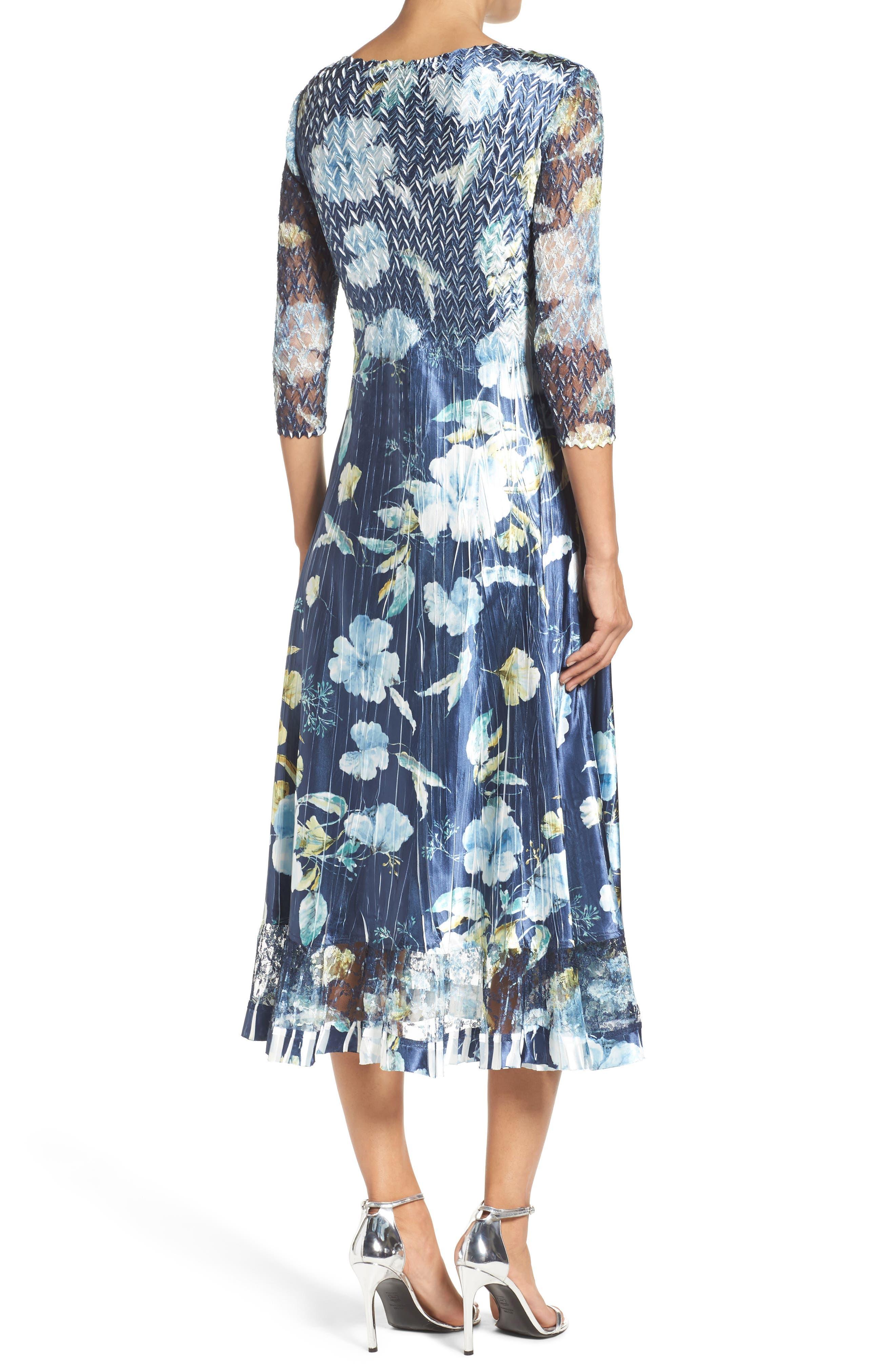 KOMAROV, A-Line Dress, Alternate thumbnail 2, color, SAPPHIRE