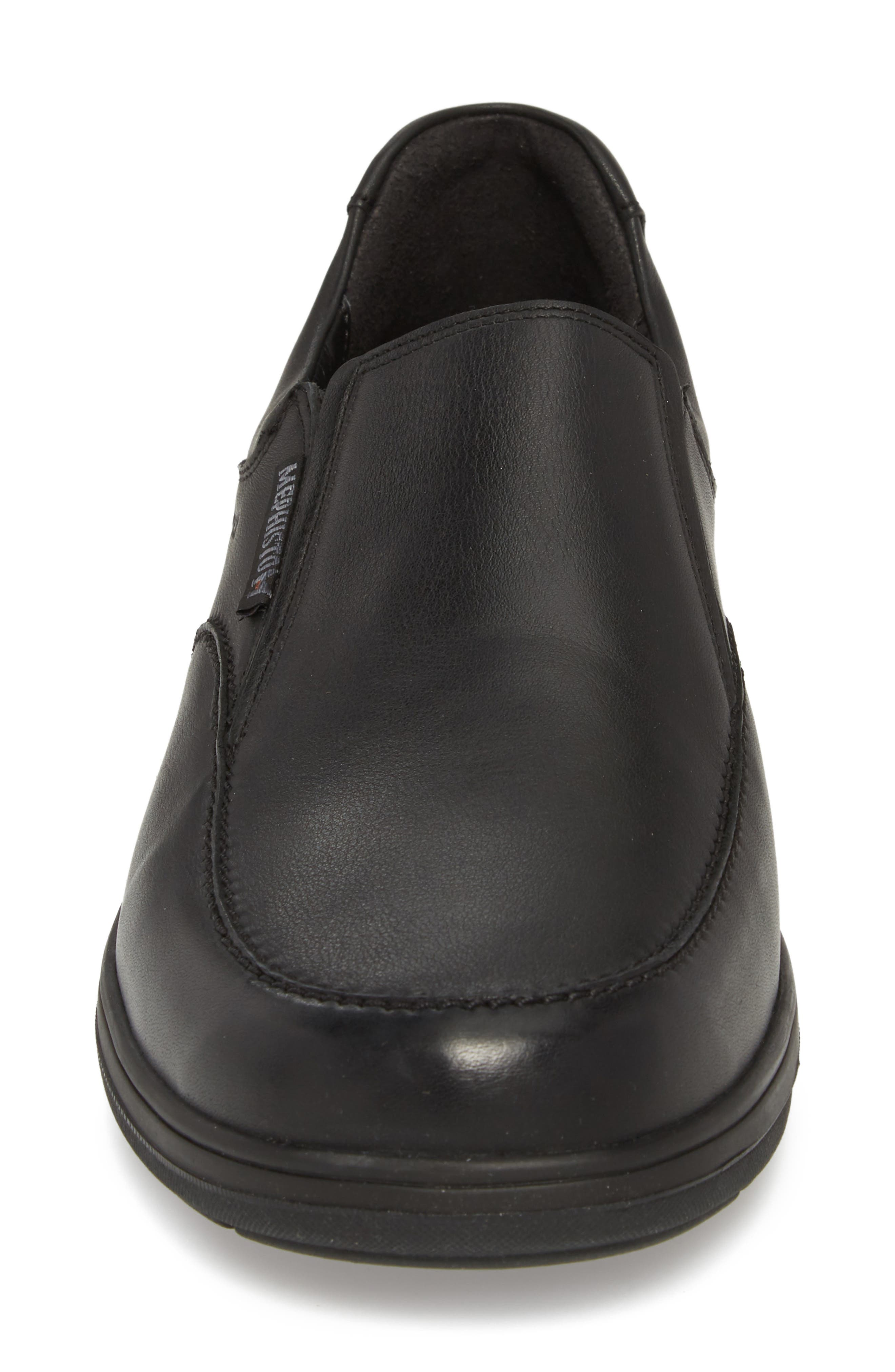MEPHISTO, Davy Slip-On Men), Alternate thumbnail 4, color, BLACK LEATHER