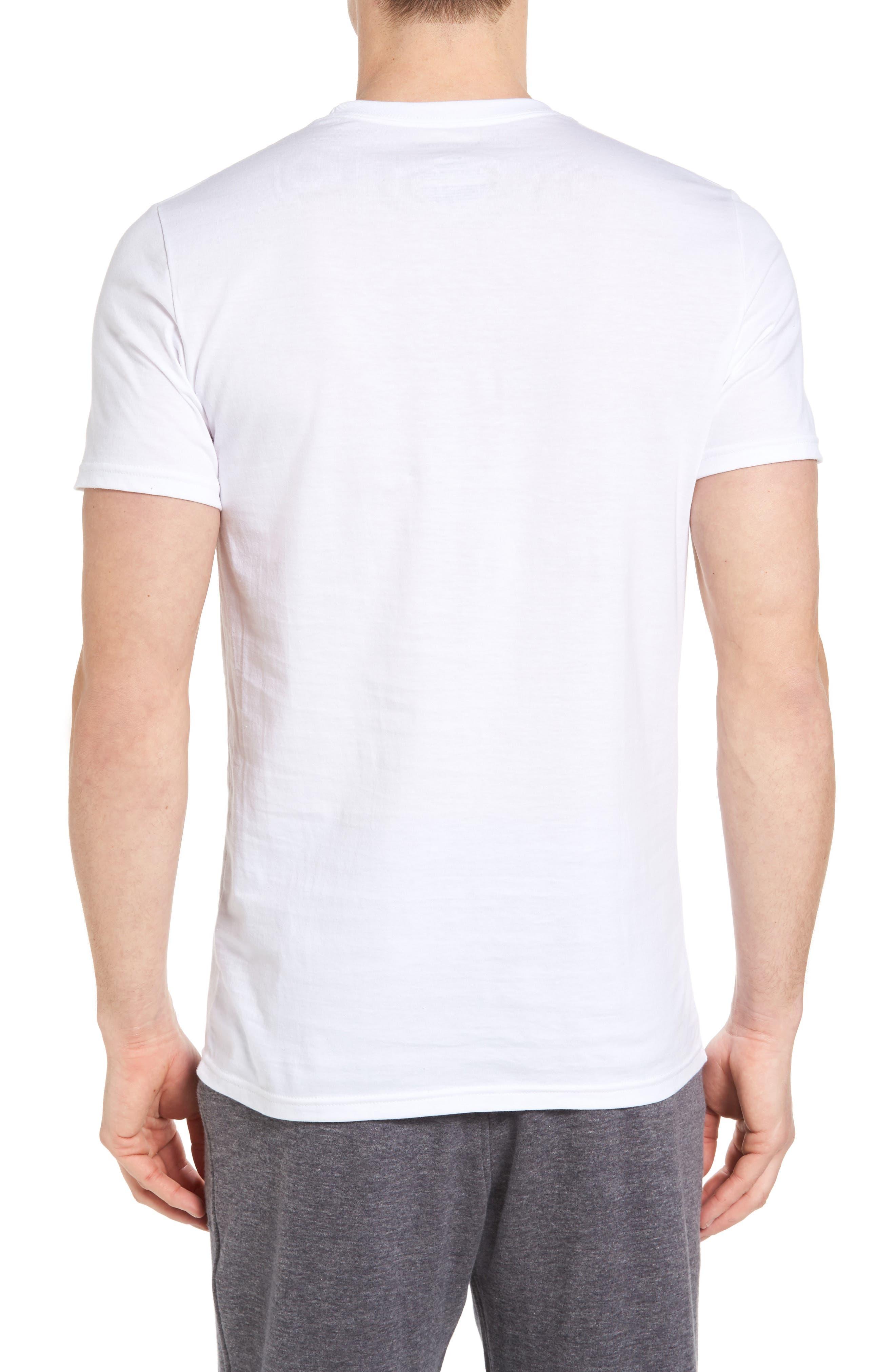 NORDSTROM MEN'S SHOP, 4-Pack Trim Fit Supima<sup>®</sup> Cotton Crewneck T-Shirt, Alternate thumbnail 3, color, WHITE