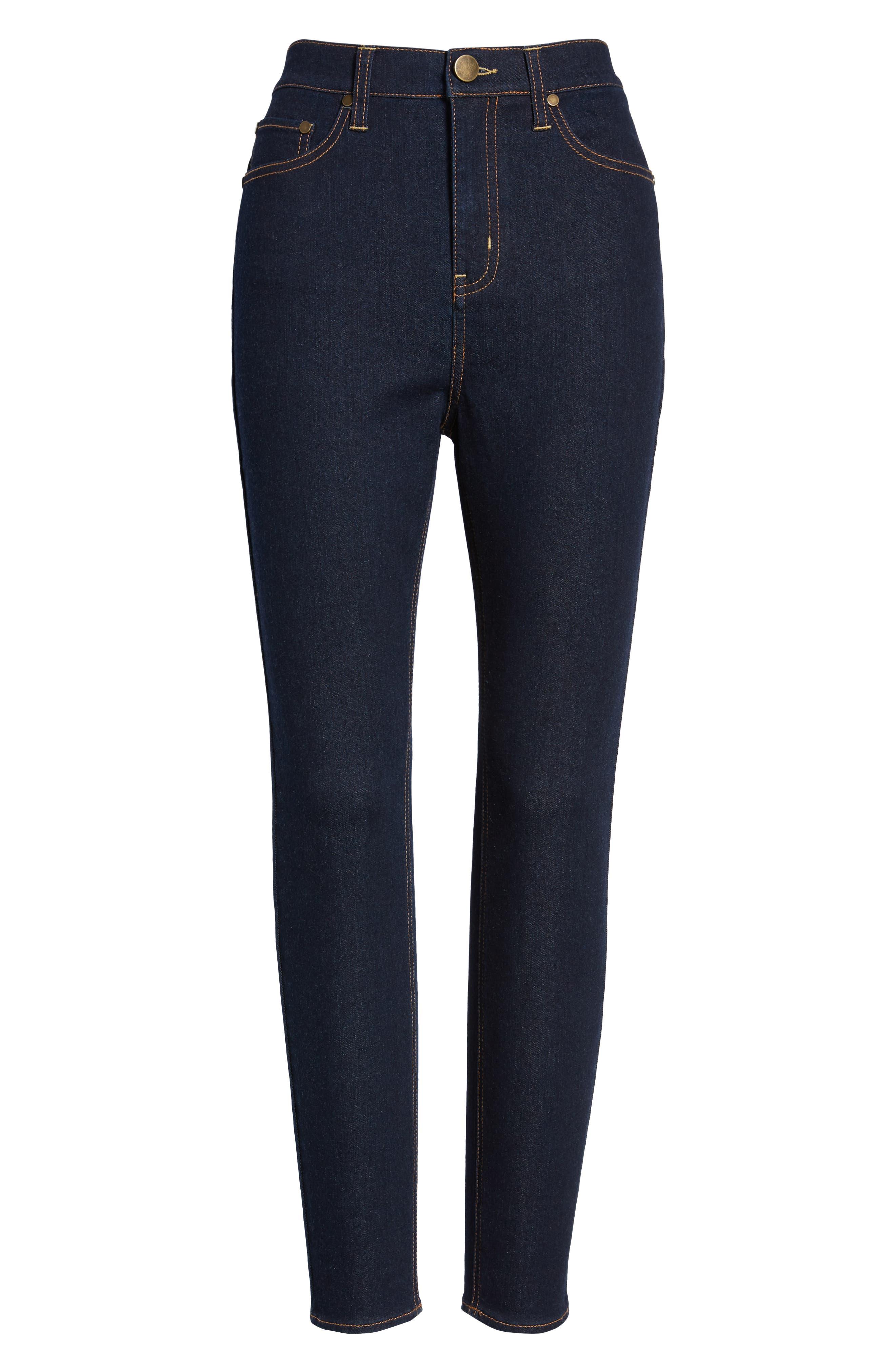TINSEL, High Waist Skinny Jeans, Alternate thumbnail 7, color, 401