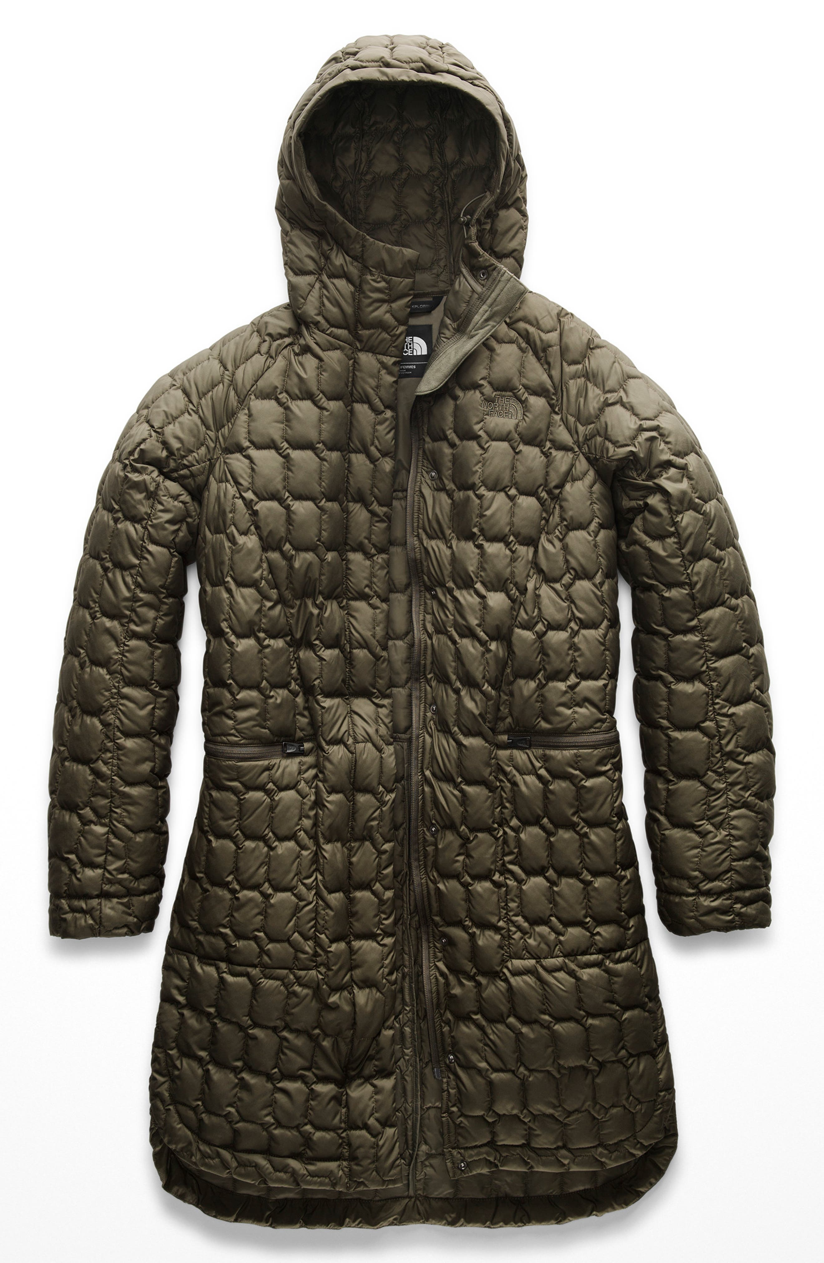 THE NORTH FACE, Thermoball<sup>™</sup> Water Resistant Duster Jacket, Alternate thumbnail 6, color, 301
