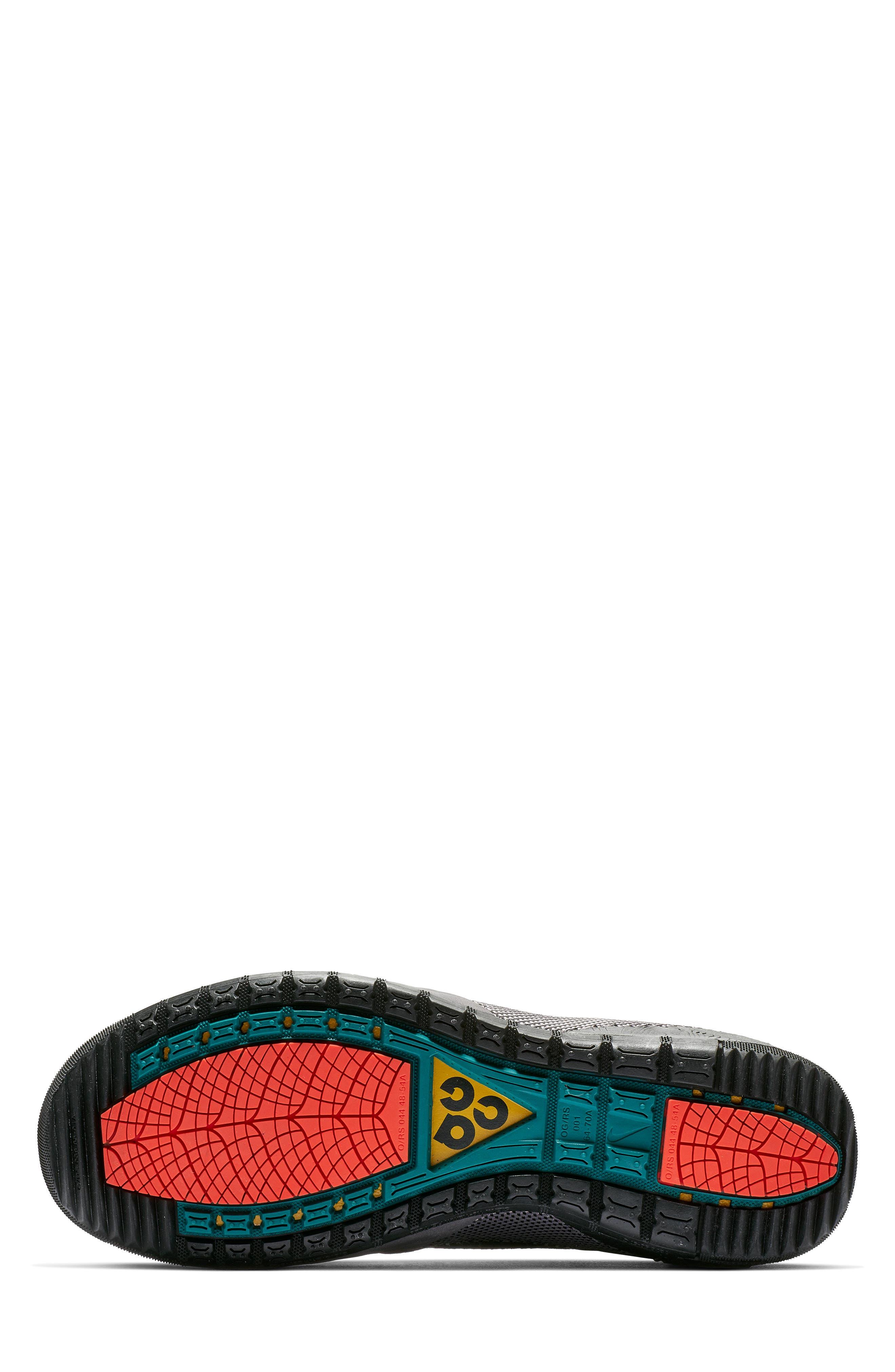 NIKE, ACG Ruckel Ridge Sneaker, Alternate thumbnail 5, color, 002