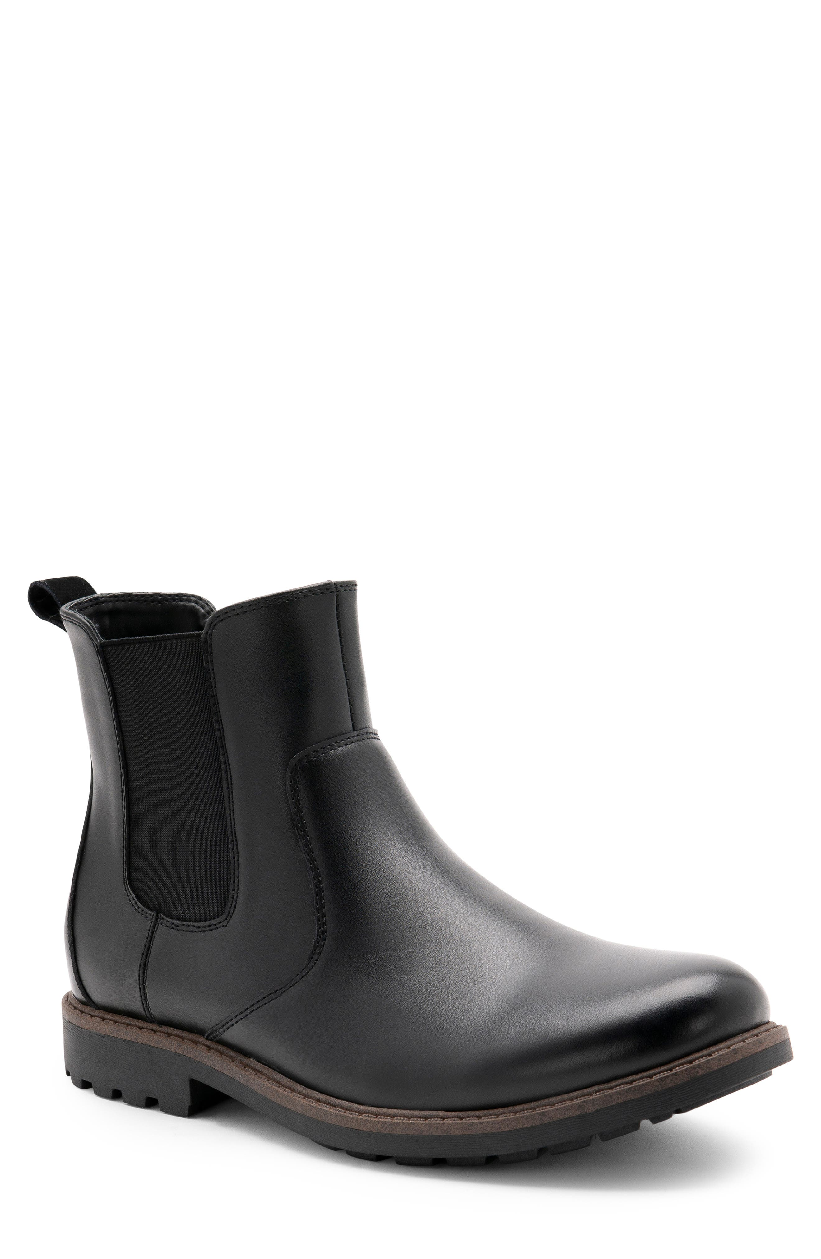 BLONDO Shadow Waterproof Chelsea Boot, Main, color, BLACK LEATHER