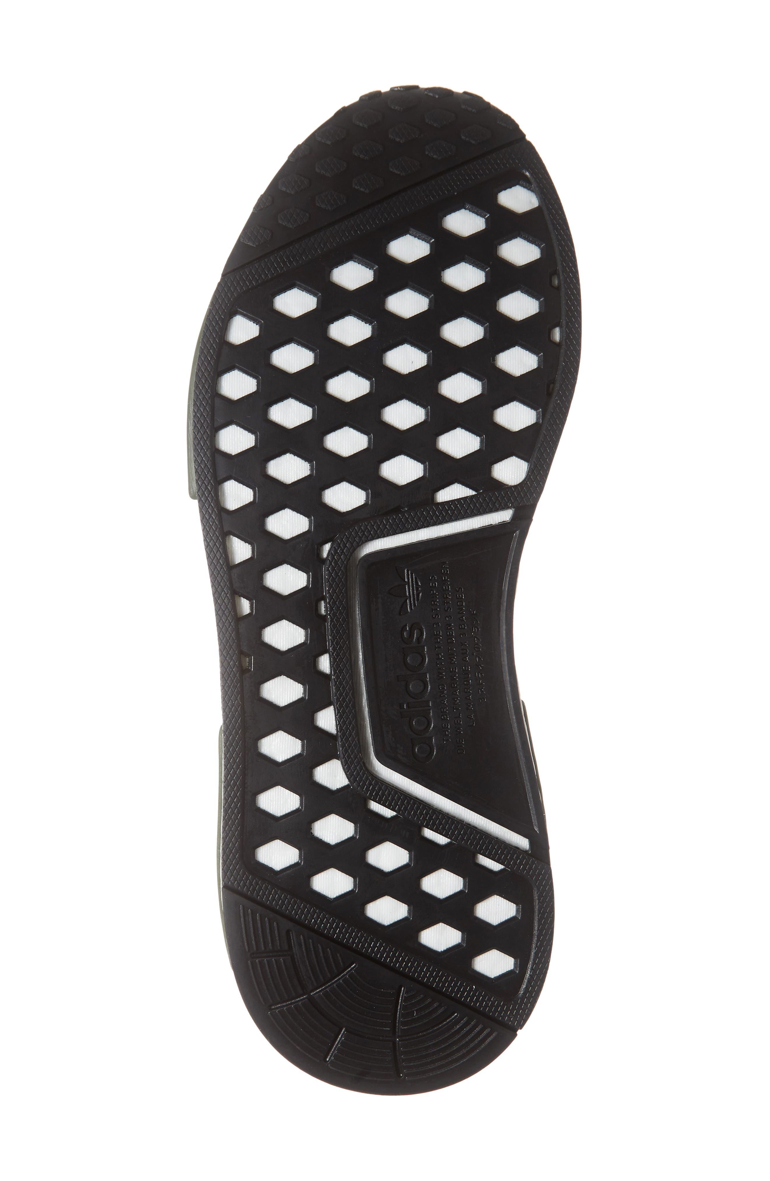 ADIDAS, Originals NMD R1 Sneaker, Alternate thumbnail 6, color, NIGHT CARGO/ BLACK