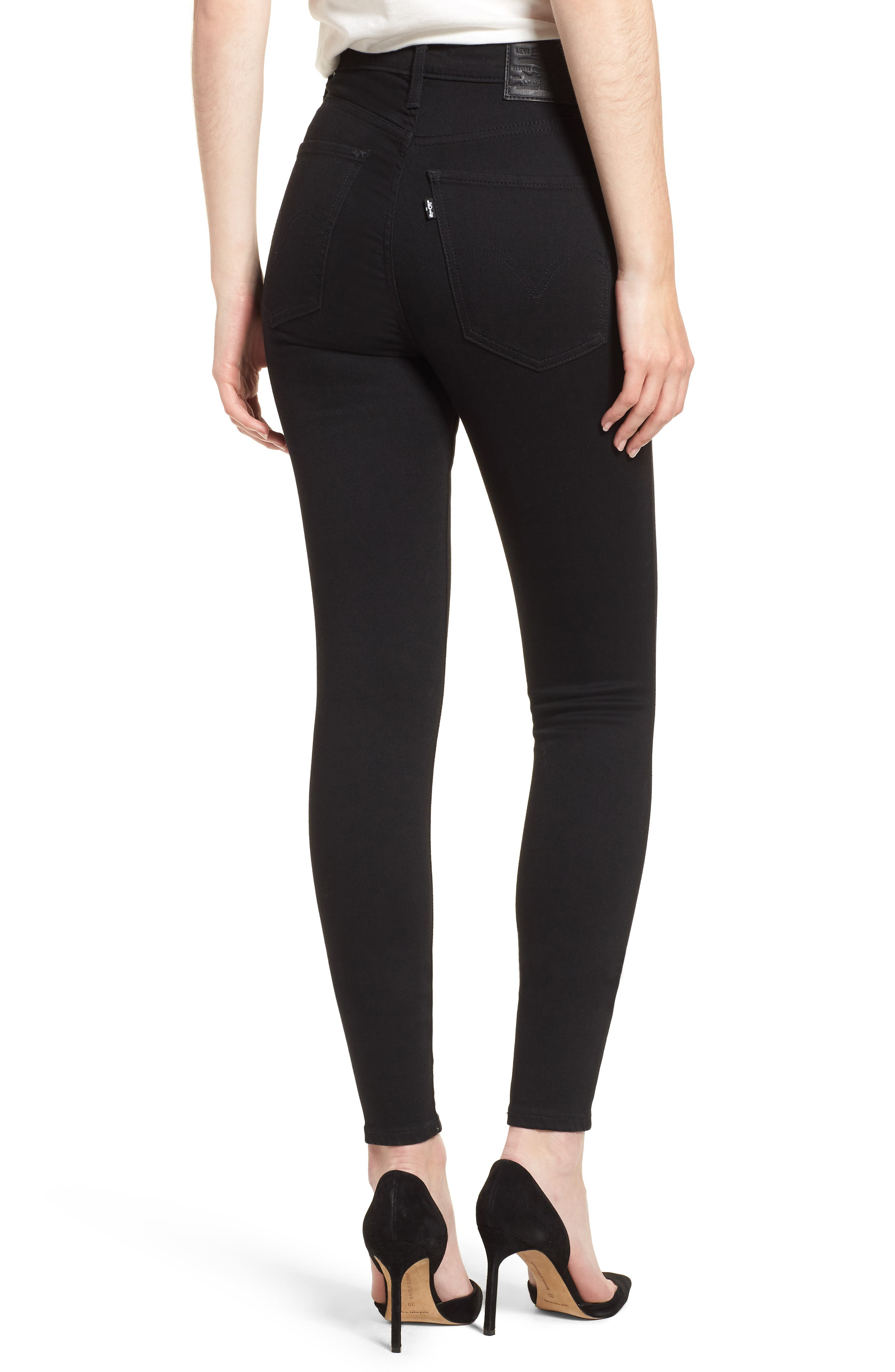 LEVI'S<SUP>®</SUP>, Mile High Super Skinny Jeans, Alternate thumbnail 2, color, BLACK GALAXY