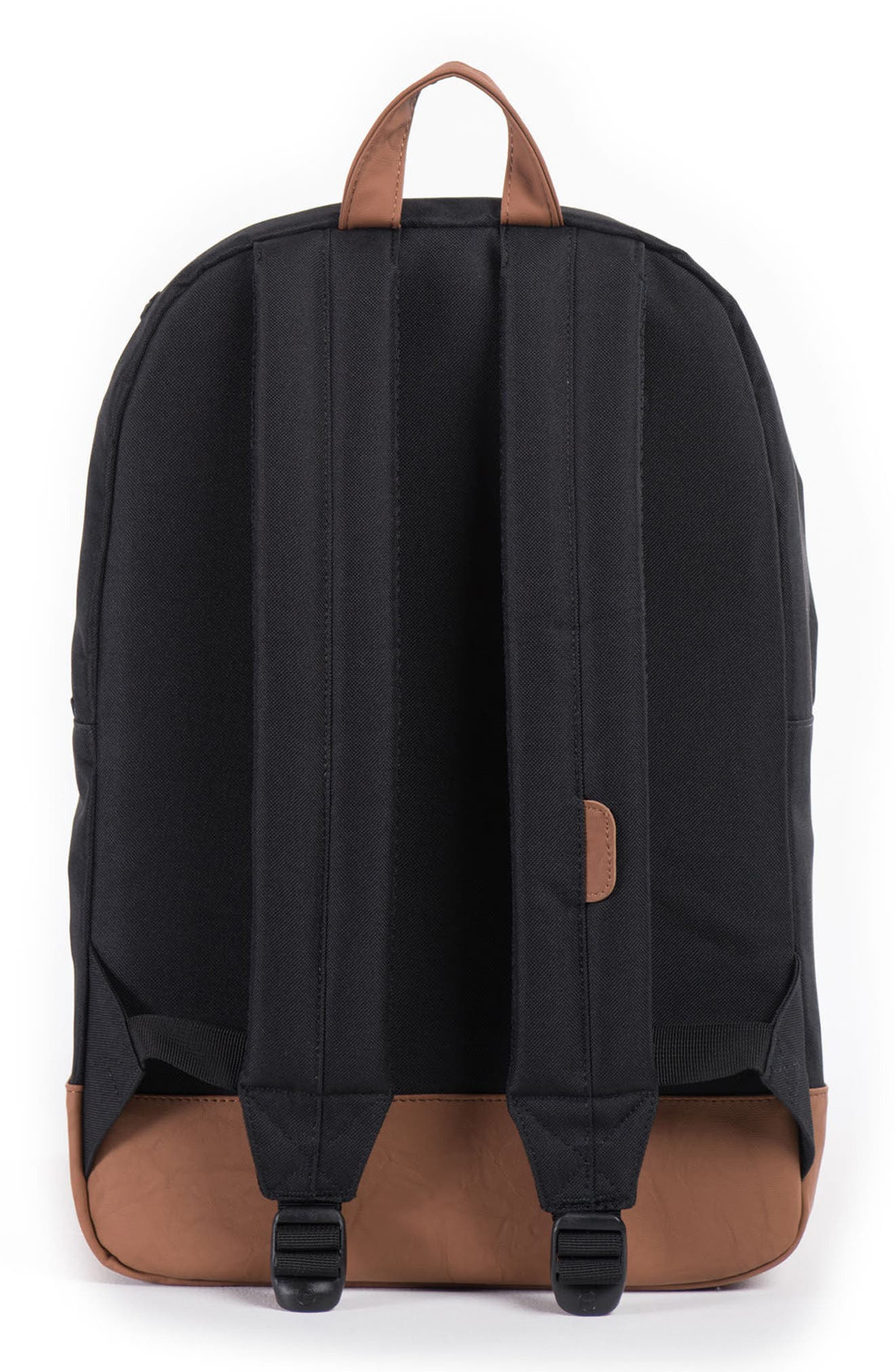 HERSCHEL SUPPLY CO., Heritage Backpack, Alternate thumbnail 4, color, BLACK