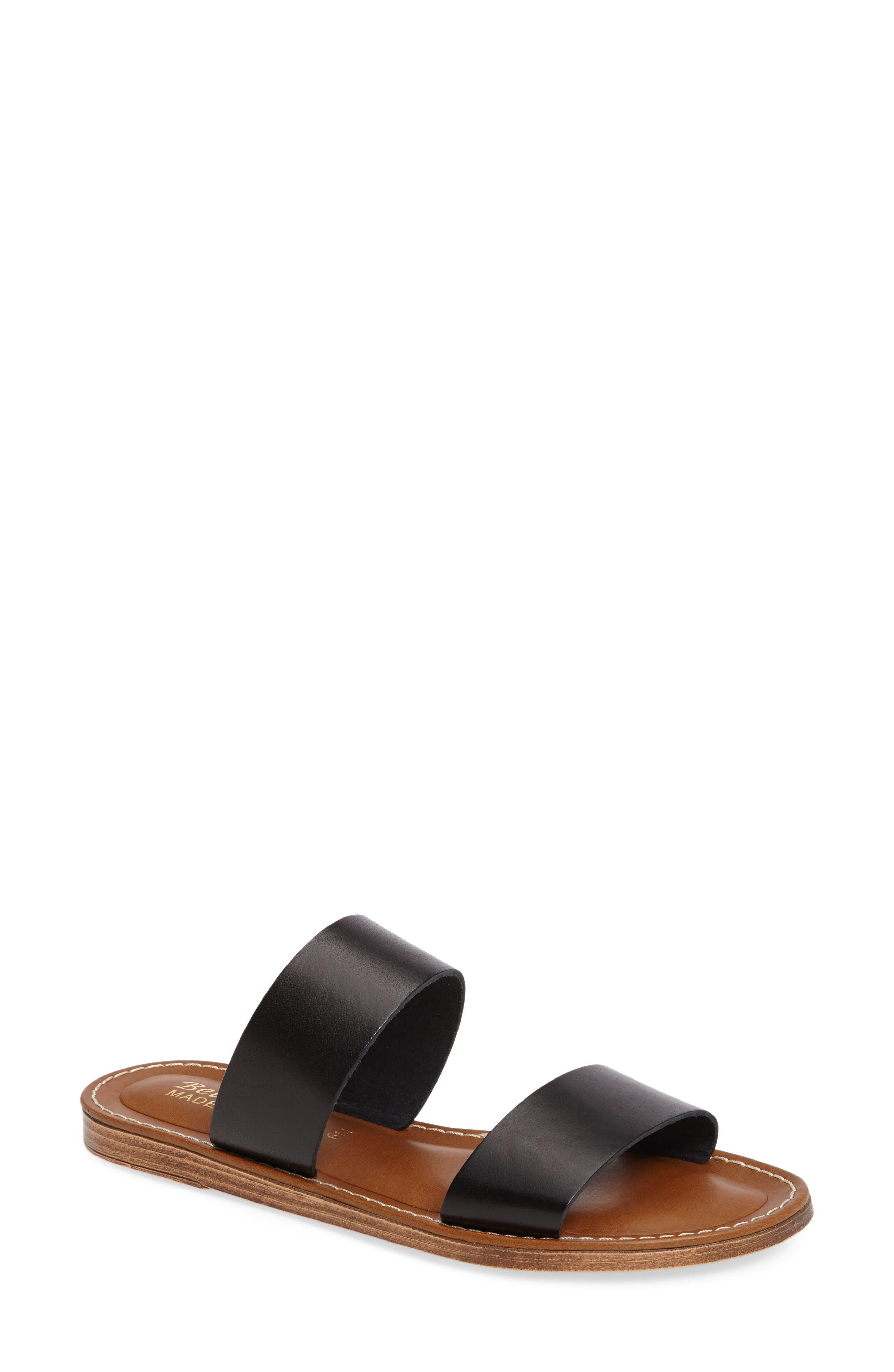 BELLA VITA, Imo Slide Sandal, Main thumbnail 1, color, BLACK LEATHER
