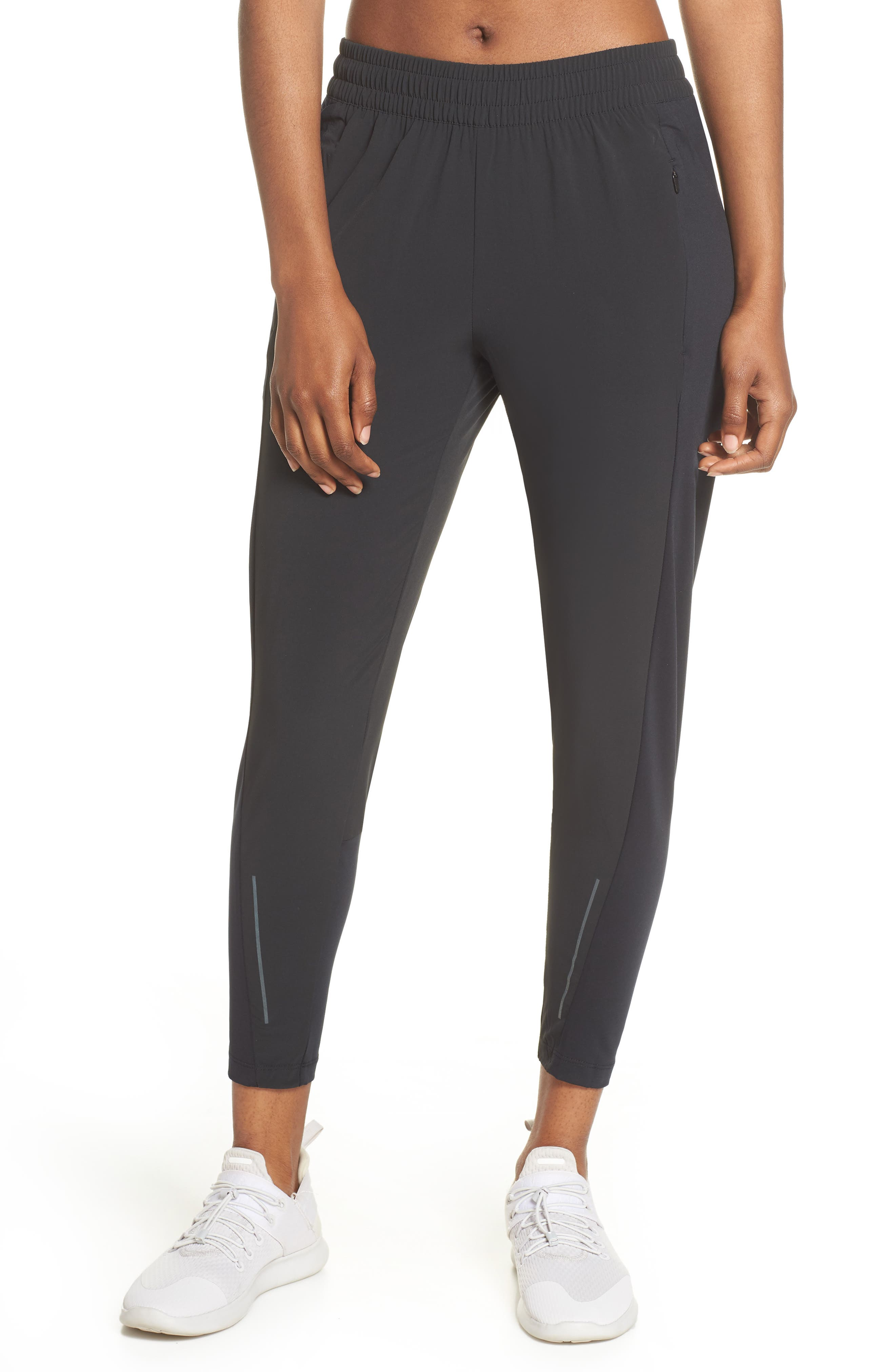 NIKE Swift Running Pants, Main, color, BLACK/ REFLECTIVE SILVER