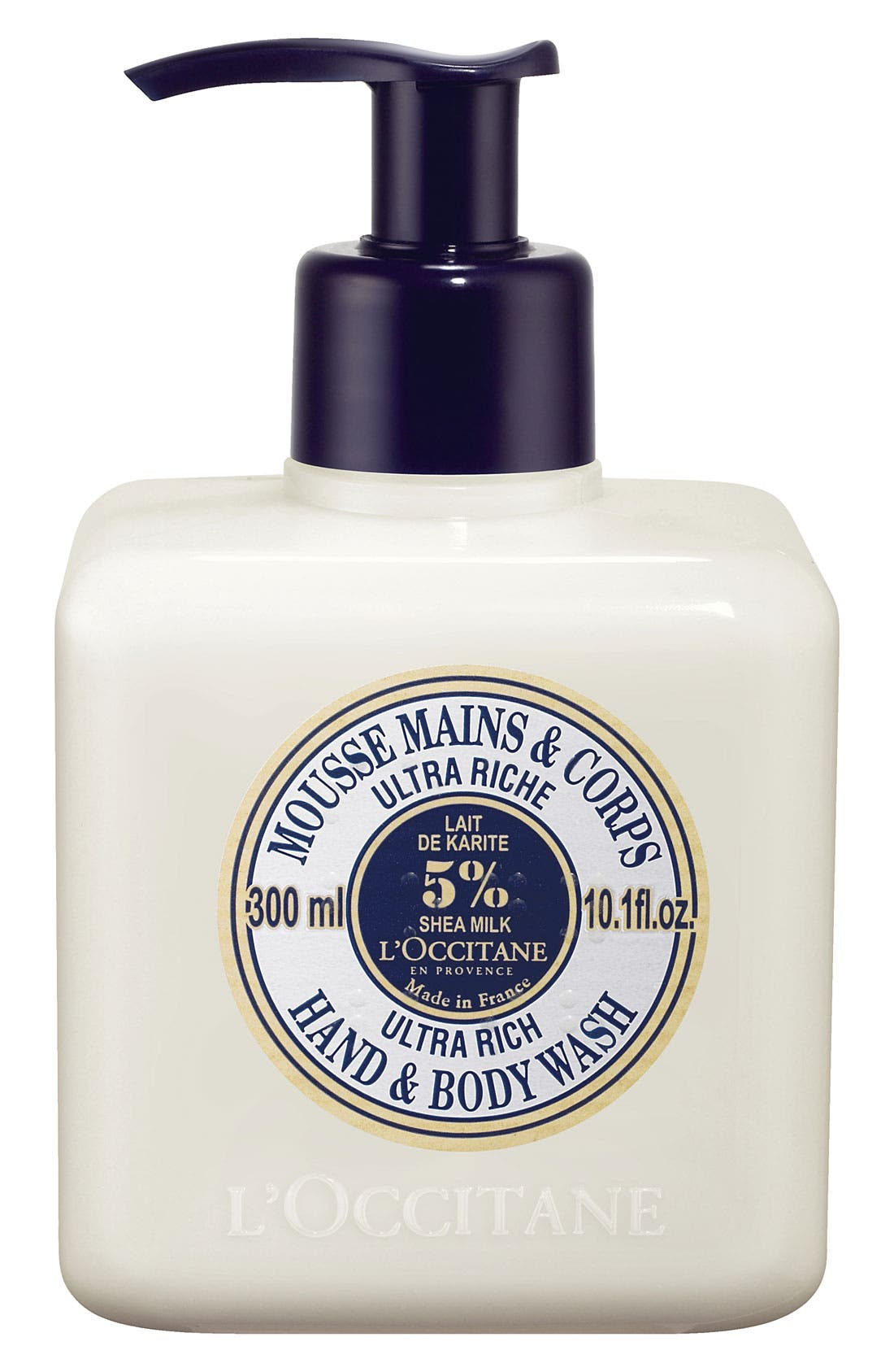 L'OCCITANE, Shea Butter Ultra Rich Hand & Body Wash, Main thumbnail 1, color, NO COLOR