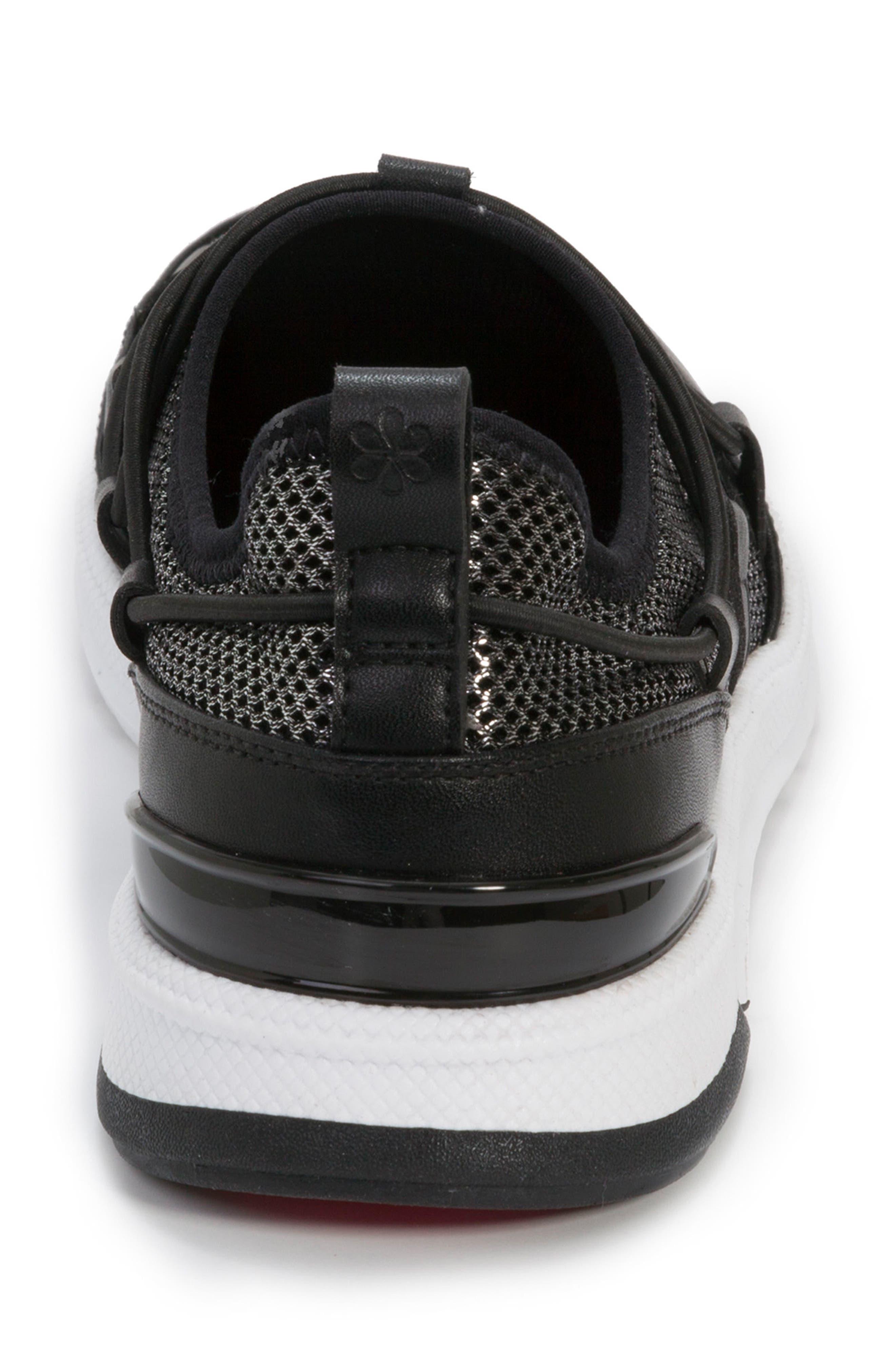 FOOT PETALS, Bree Sneaker, Alternate thumbnail 7, color, BLACK/ PEWTER