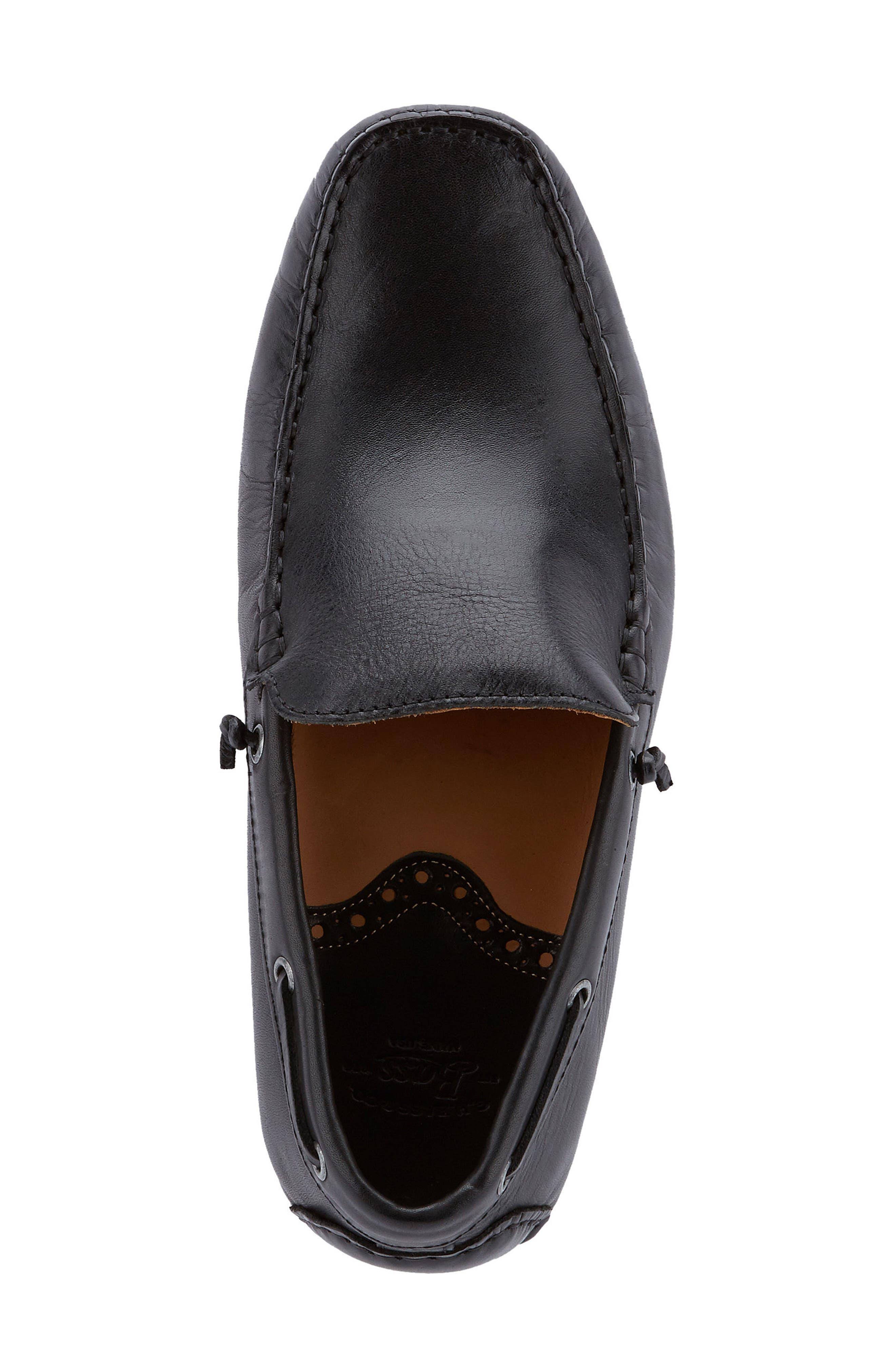 G.H. BASS & CO., Walter Driving Shoe, Alternate thumbnail 4, color, BLACK