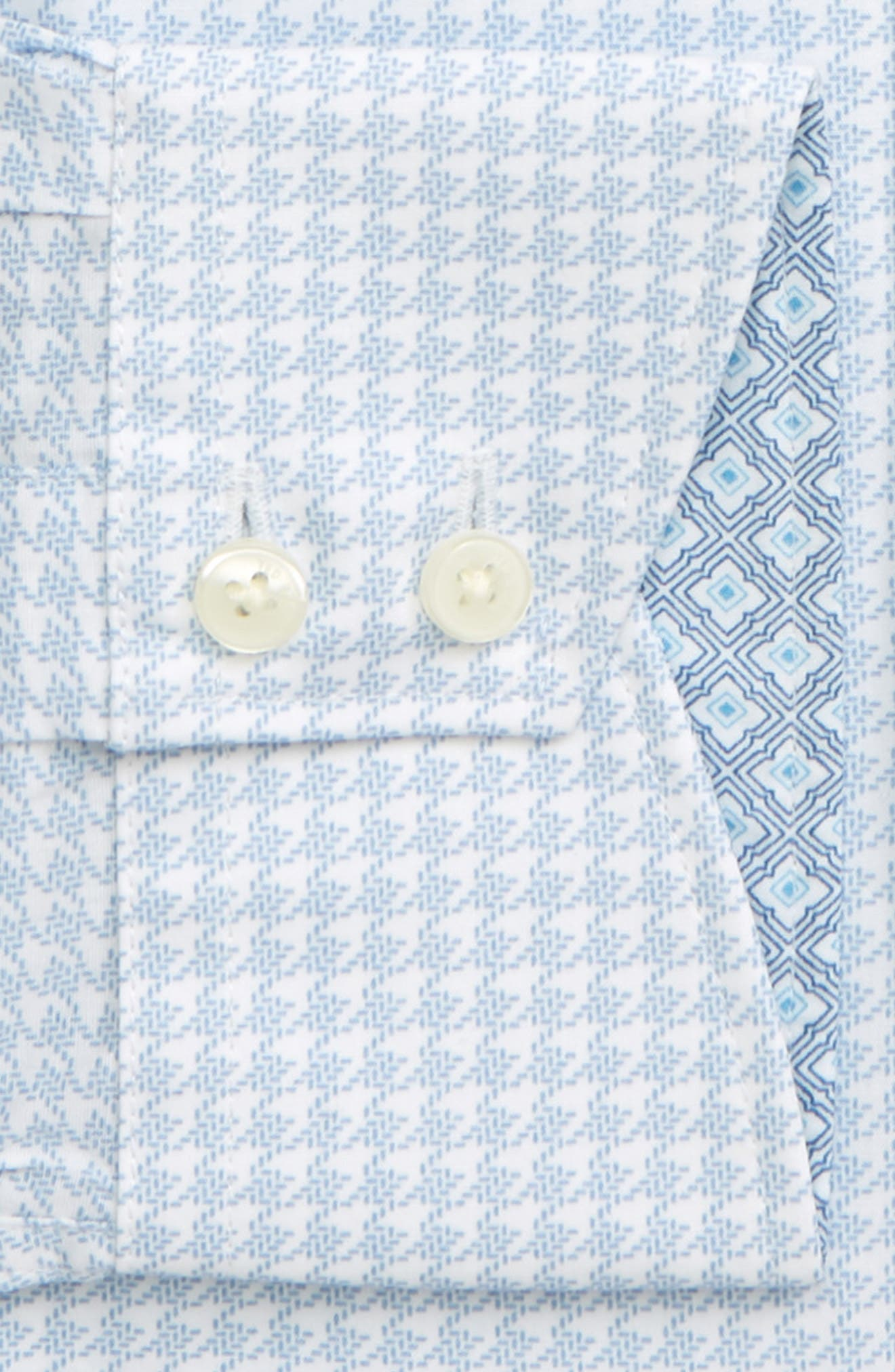 TED BAKER LONDON, Endurance Grahite Slim Fit Houndstooth Dress Shirt, Alternate thumbnail 2, color, BLUE