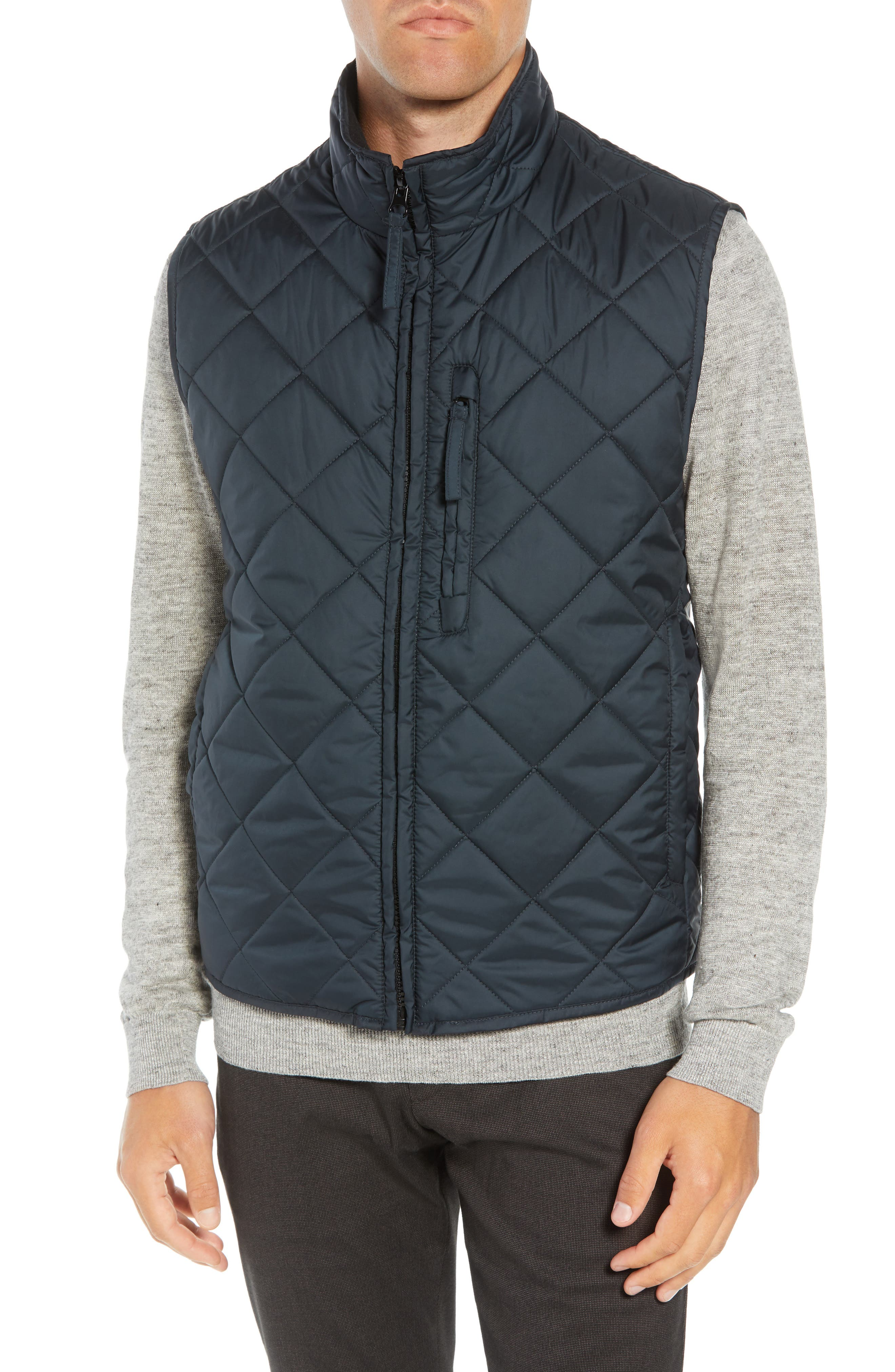 MARC NEW YORK, Chester Packable Quilted Vest, Alternate thumbnail 5, color, BLACK