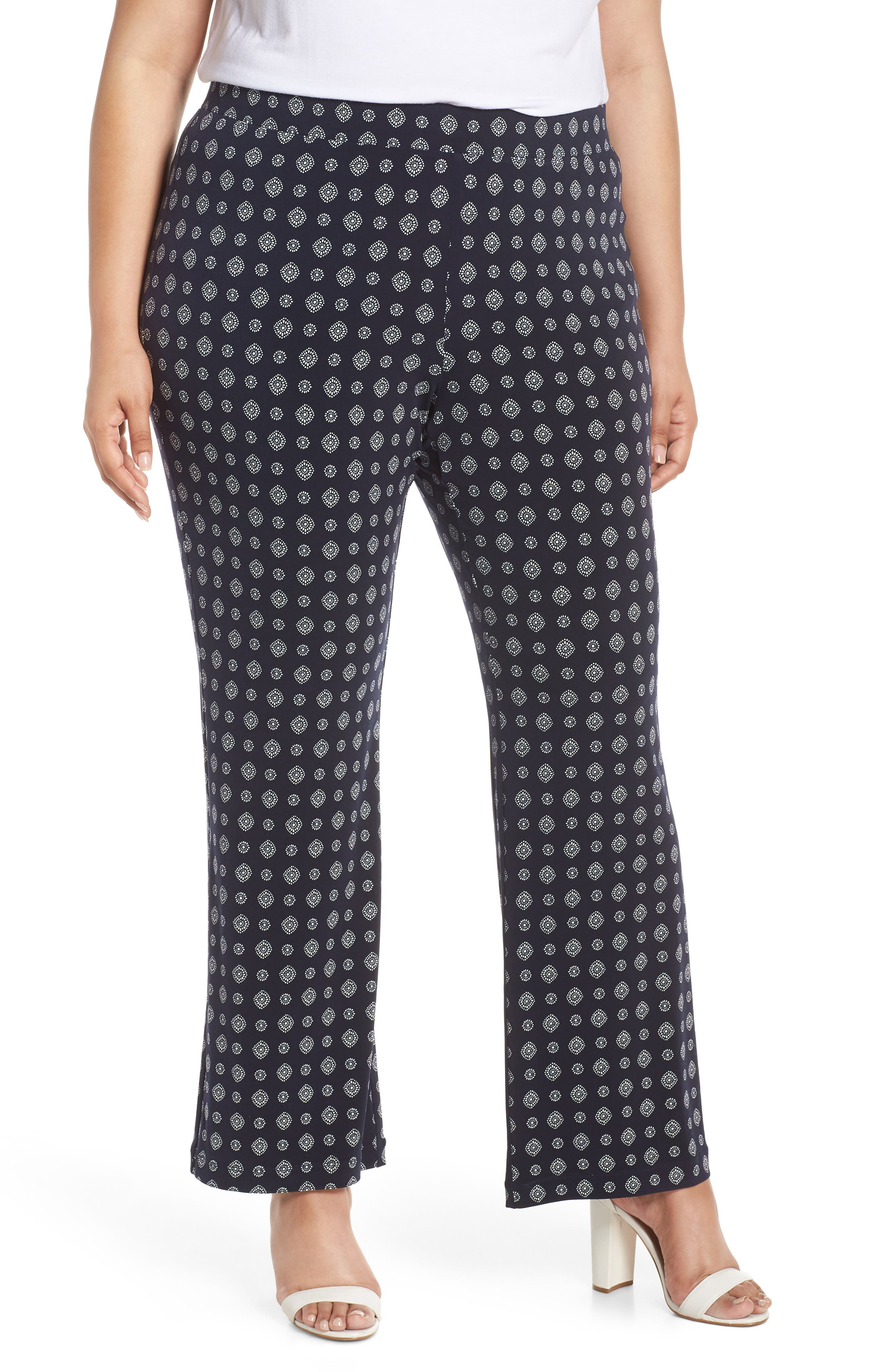 2ee037c22fb Plus Size Vince Camuto Textured Foulard Flare Pants
