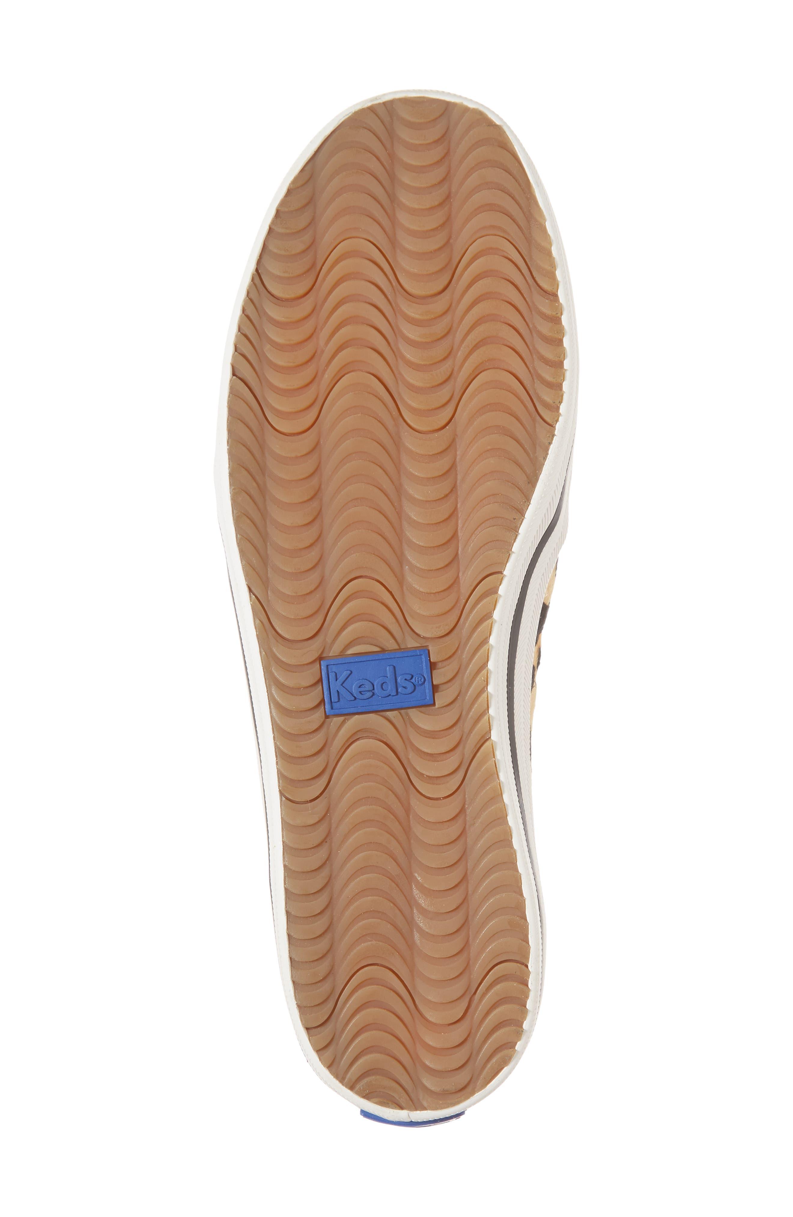 KEDS<SUP>®</SUP> FOR KATE SPADE NEW YORK, Keds<sup>®</sup> x kate spade Double Decker Slip-On Sneaker, Alternate thumbnail 6, color, TAN PONY HAIR