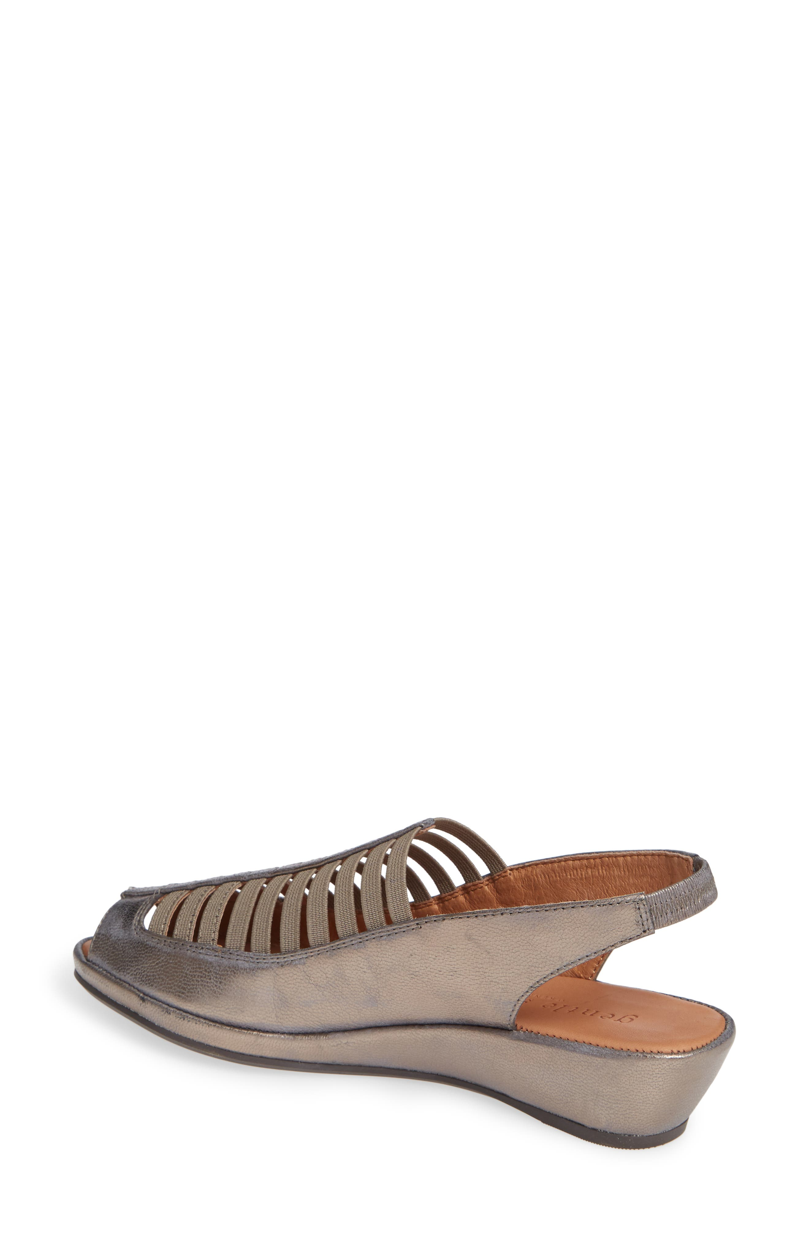 GENTLE SOULS BY KENNETH COLE, 'Lee' Sandal, Alternate thumbnail 2, color, PEWTER METALLIC LEATHER