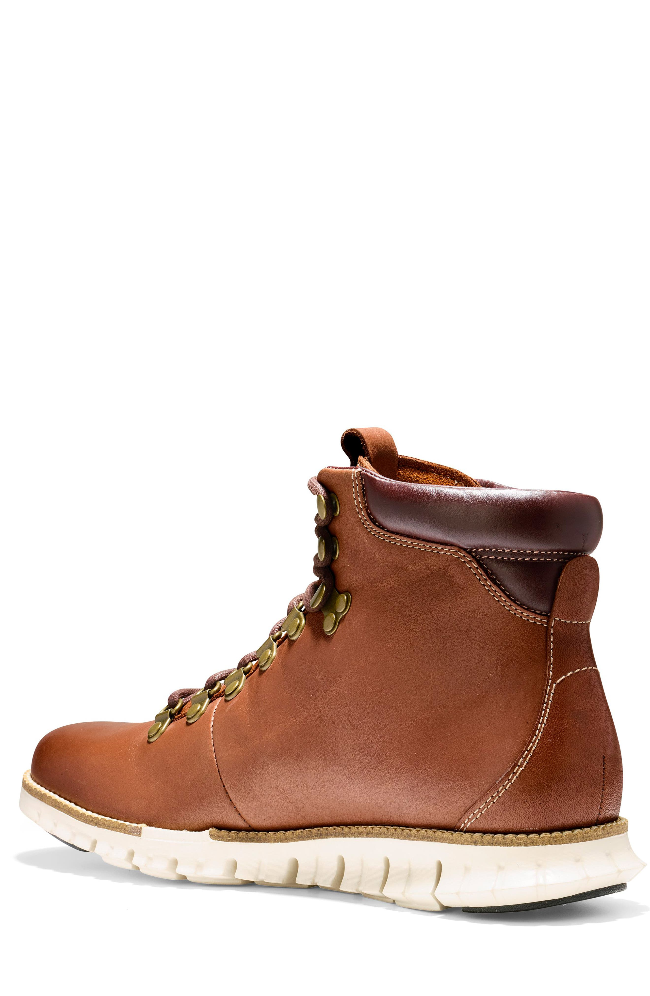 COLE HAAN, ZeroGrand Water Resistant Hiker Boot, Alternate thumbnail 2, color, WOODBURY / IVORY LEATHER