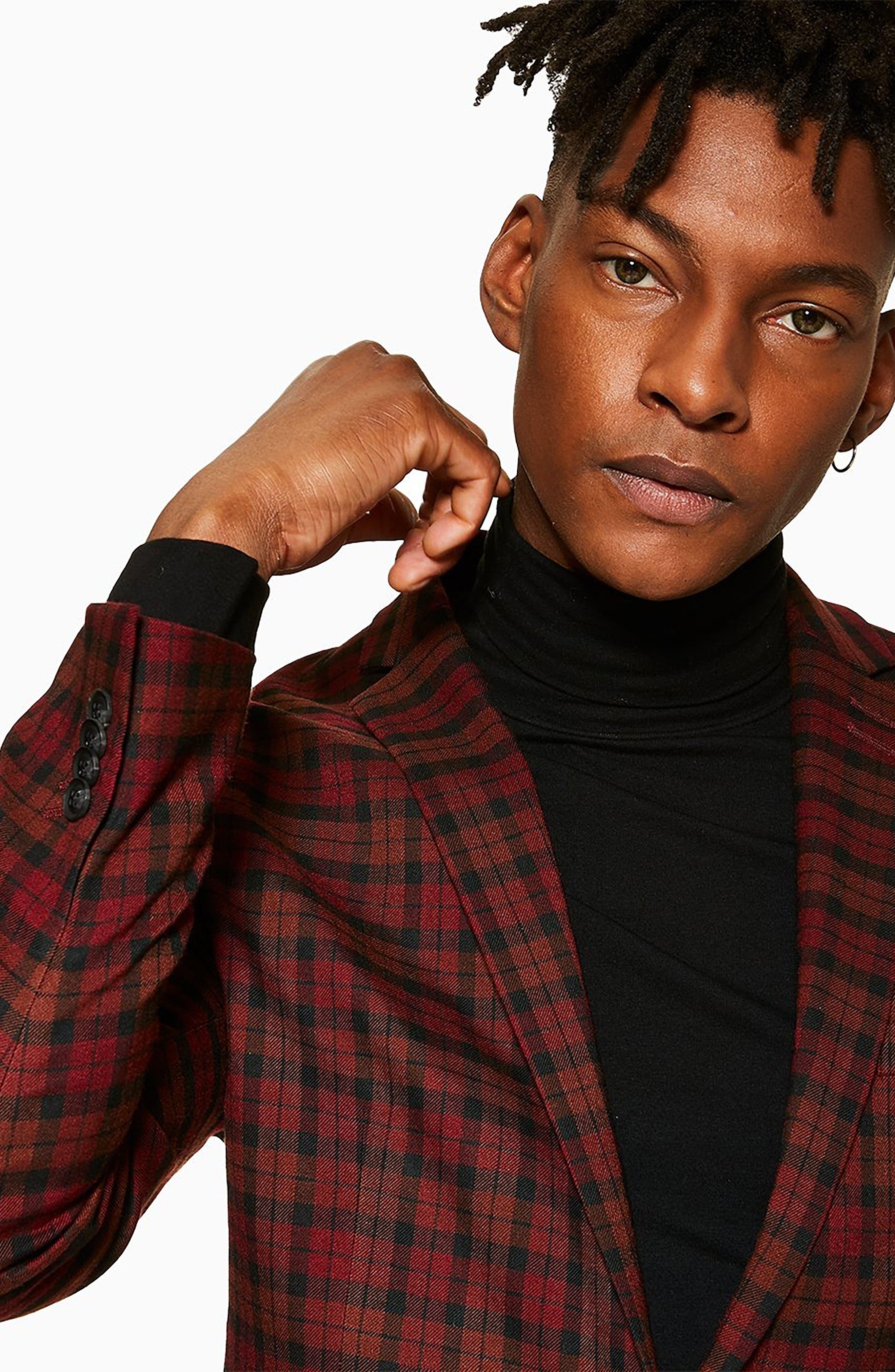 TOPMAN, Thorn Slim Fit Suit Jacket, Alternate thumbnail 9, color, 600