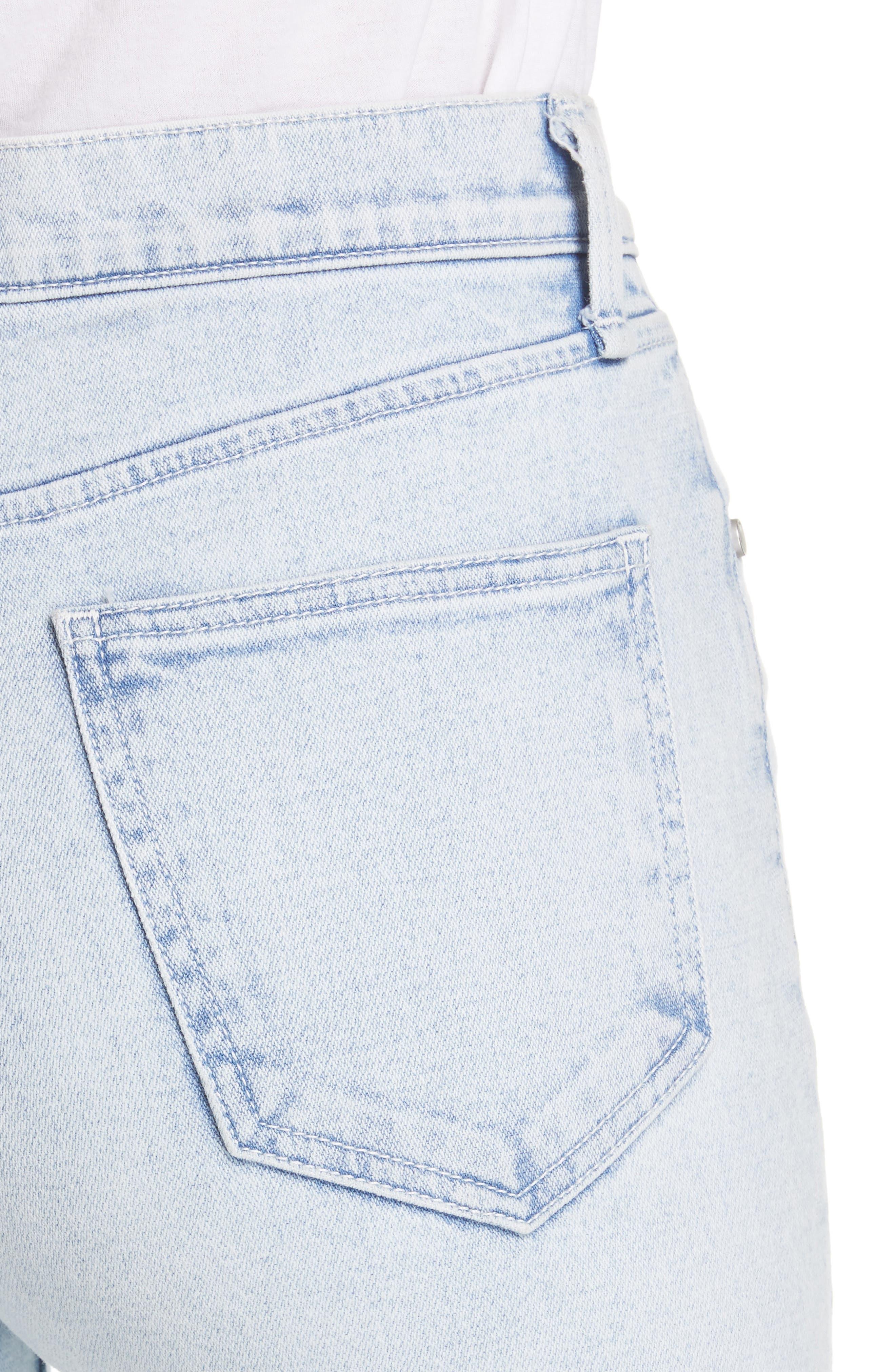RAG & BONE, JEAN High Waist Ripped Ankle Cigarette Jeans, Alternate thumbnail 5, color, 450