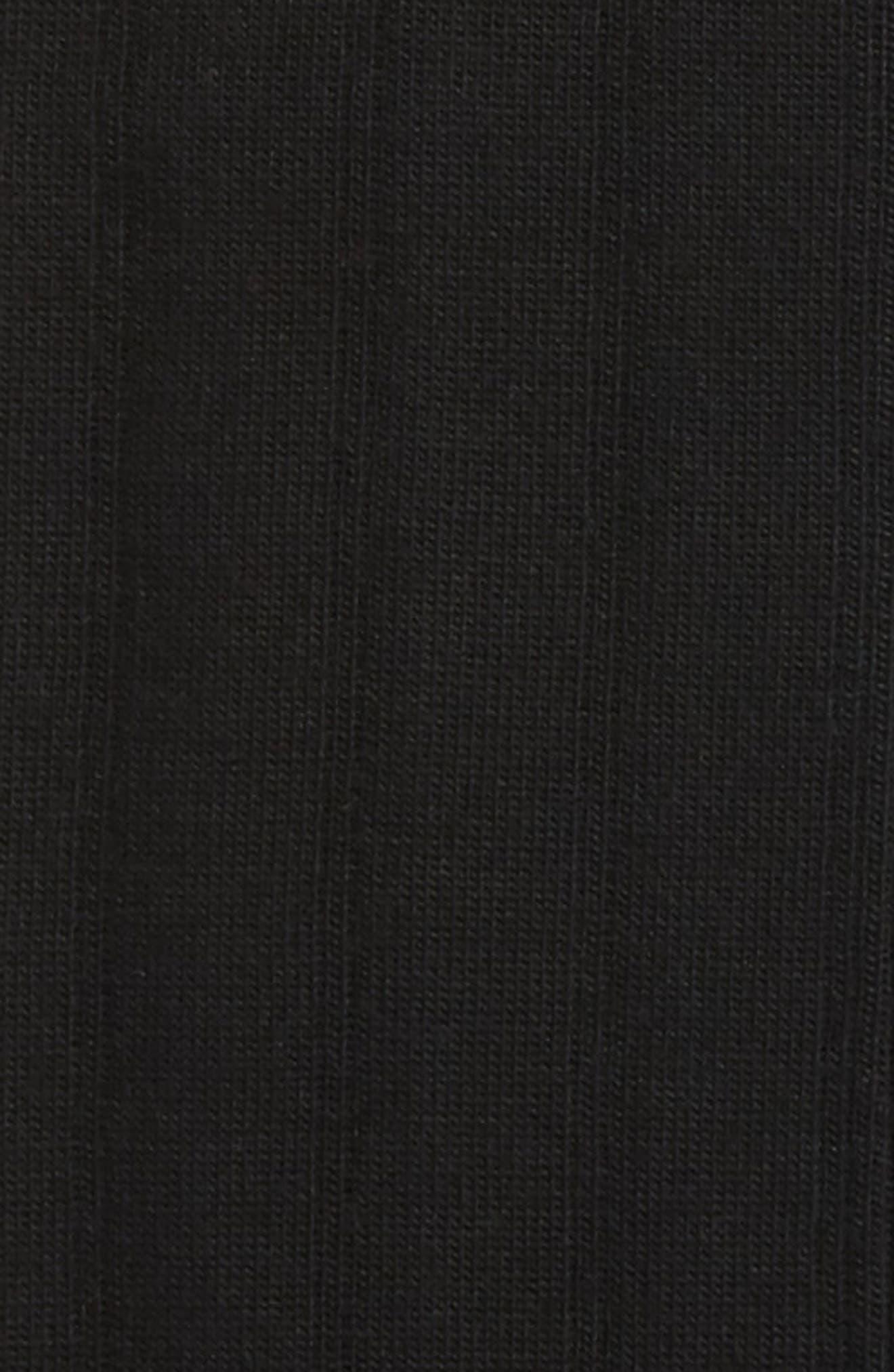 NORDSTROM MEN'S SHOP, Over the Calf Wool Socks, Alternate thumbnail 2, color, BLACK