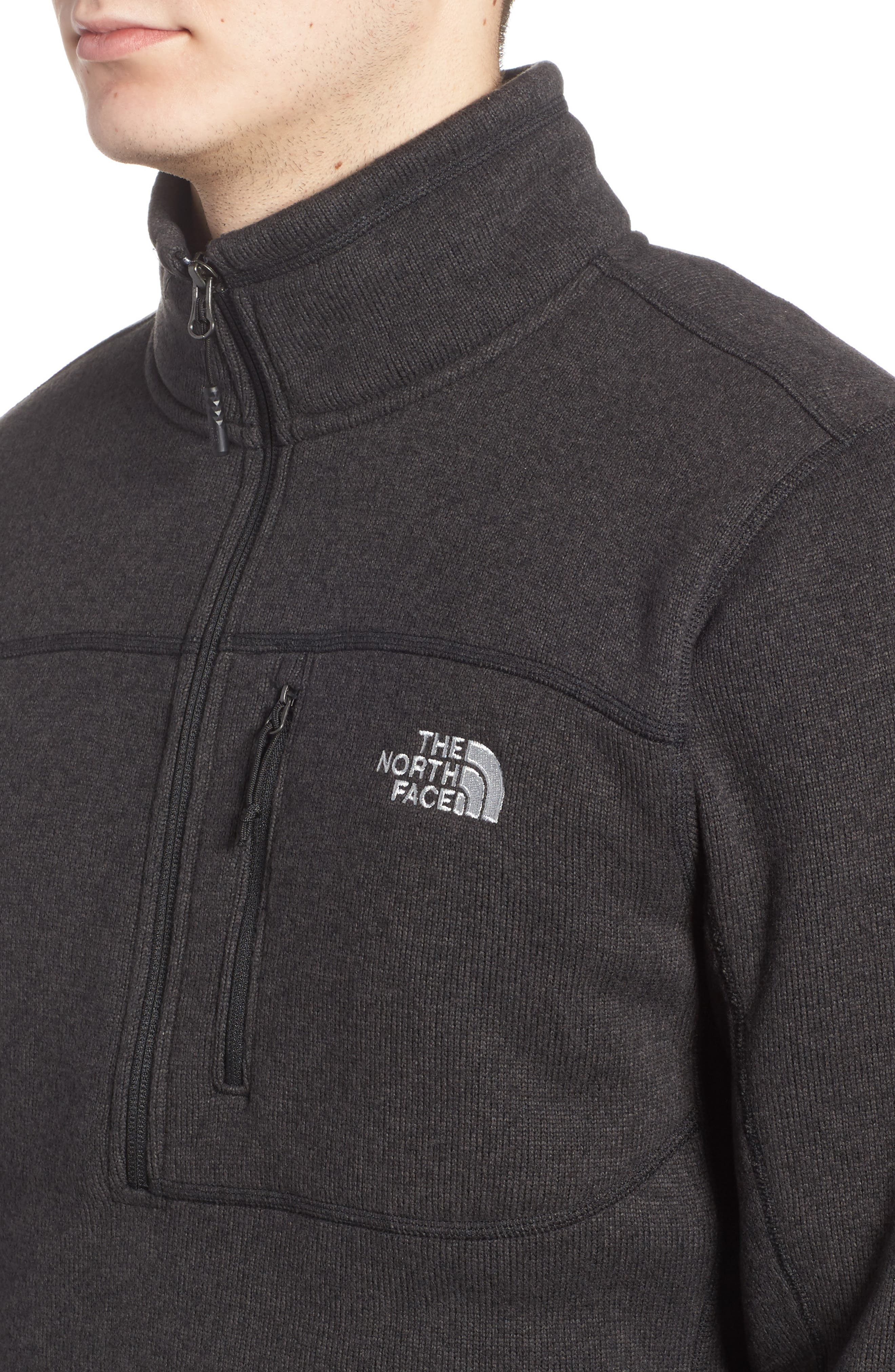 THE NORTH FACE, Gordon Lyons Quarter-Zip Fleece Jacket, Alternate thumbnail 5, color, 001