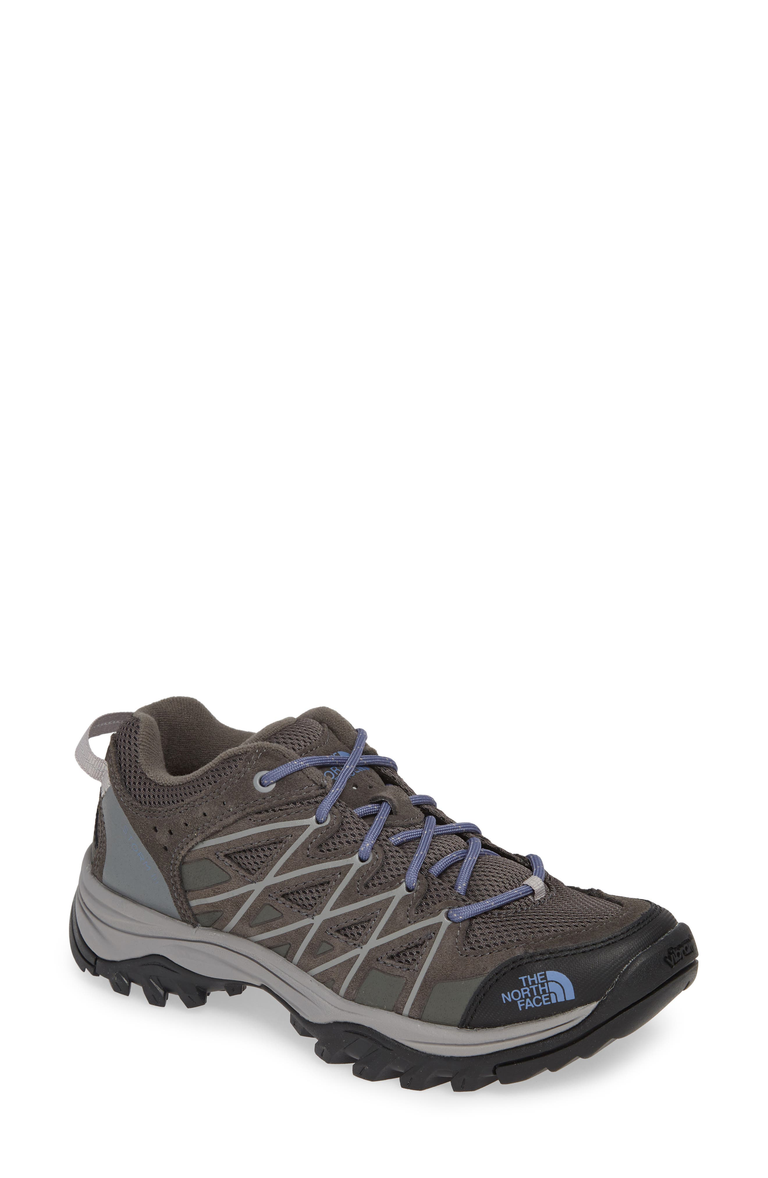 THE NORTH FACE, Storm III Waterproof Hiking Sneaker, Main thumbnail 1, color, DARK GULL GREY/ MARLIN BLUE