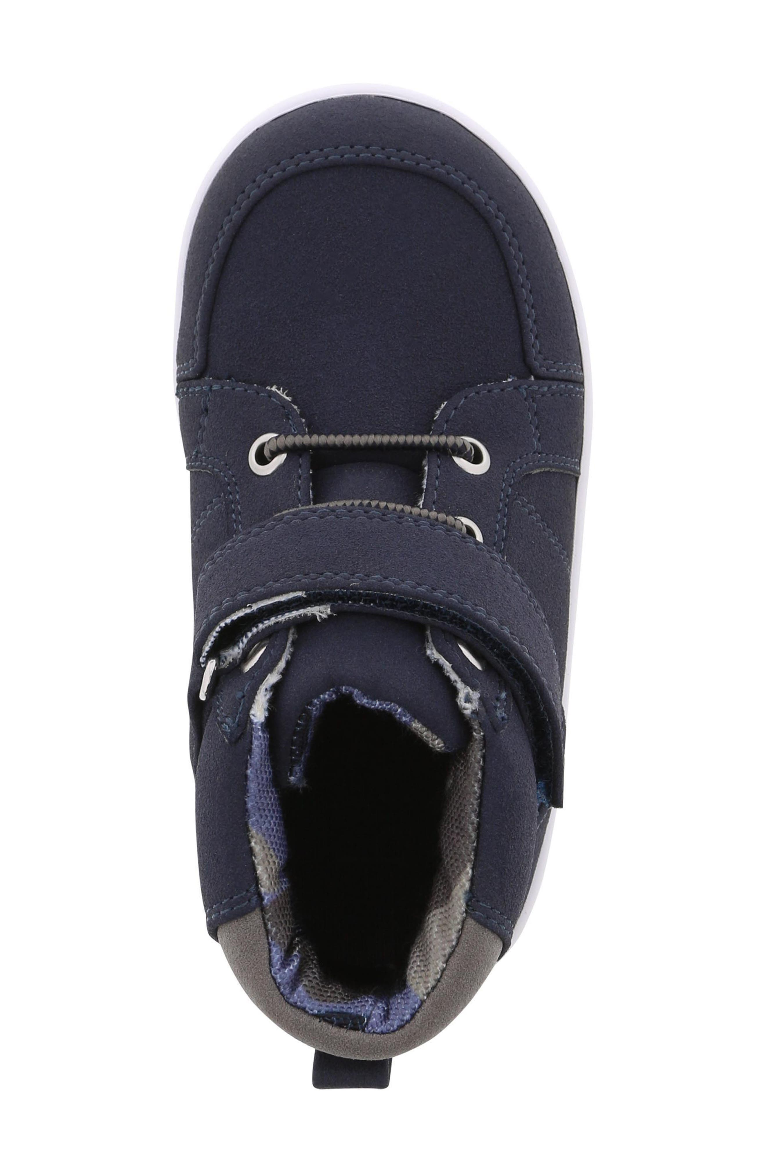 BØRN, Bailey Levi Sneaker, Alternate thumbnail 5, color, NAVY