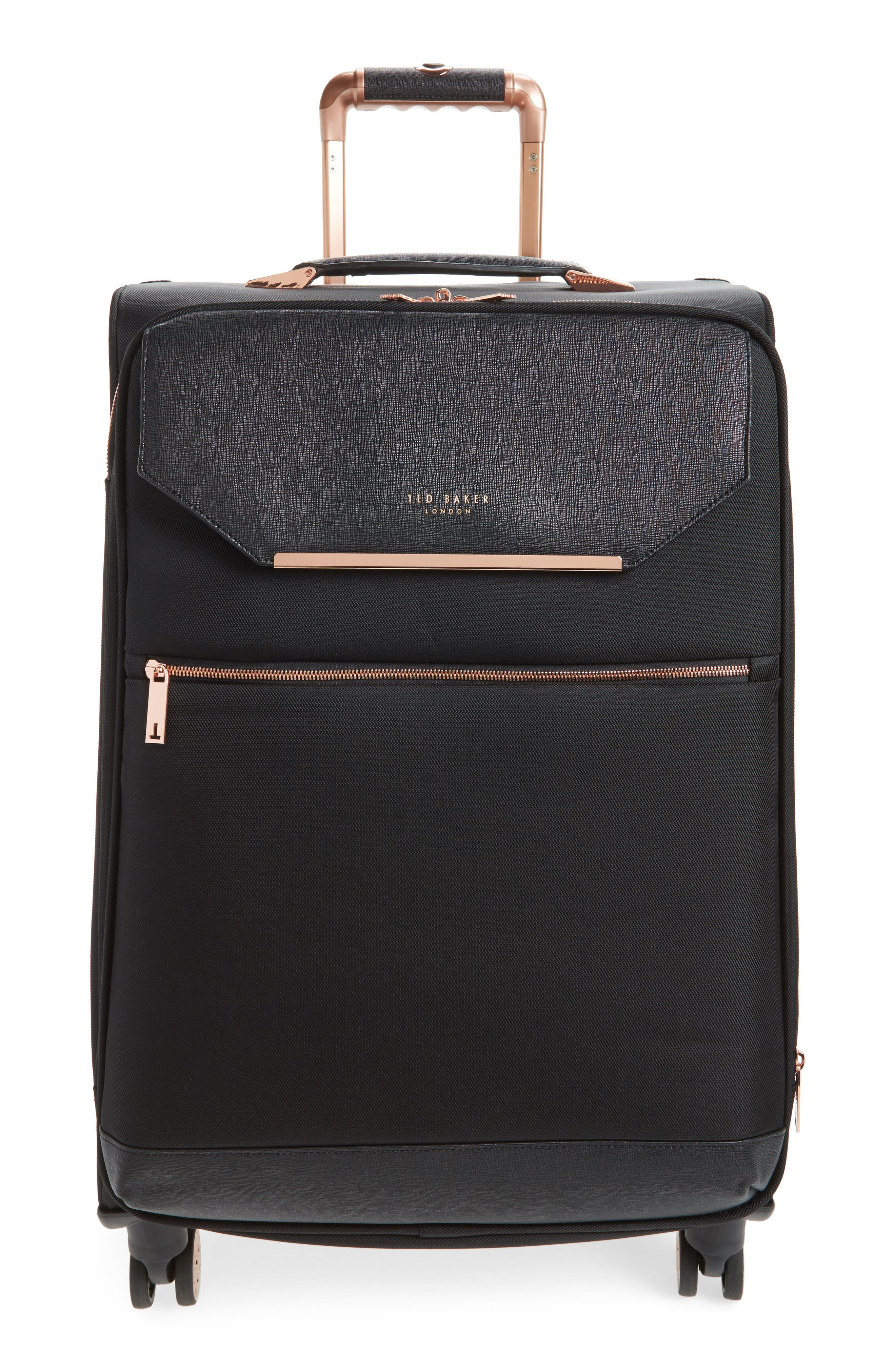TED BAKER LONDON Medium Albany 27-Inch Spinner Suitcase, Main, color, BLACK