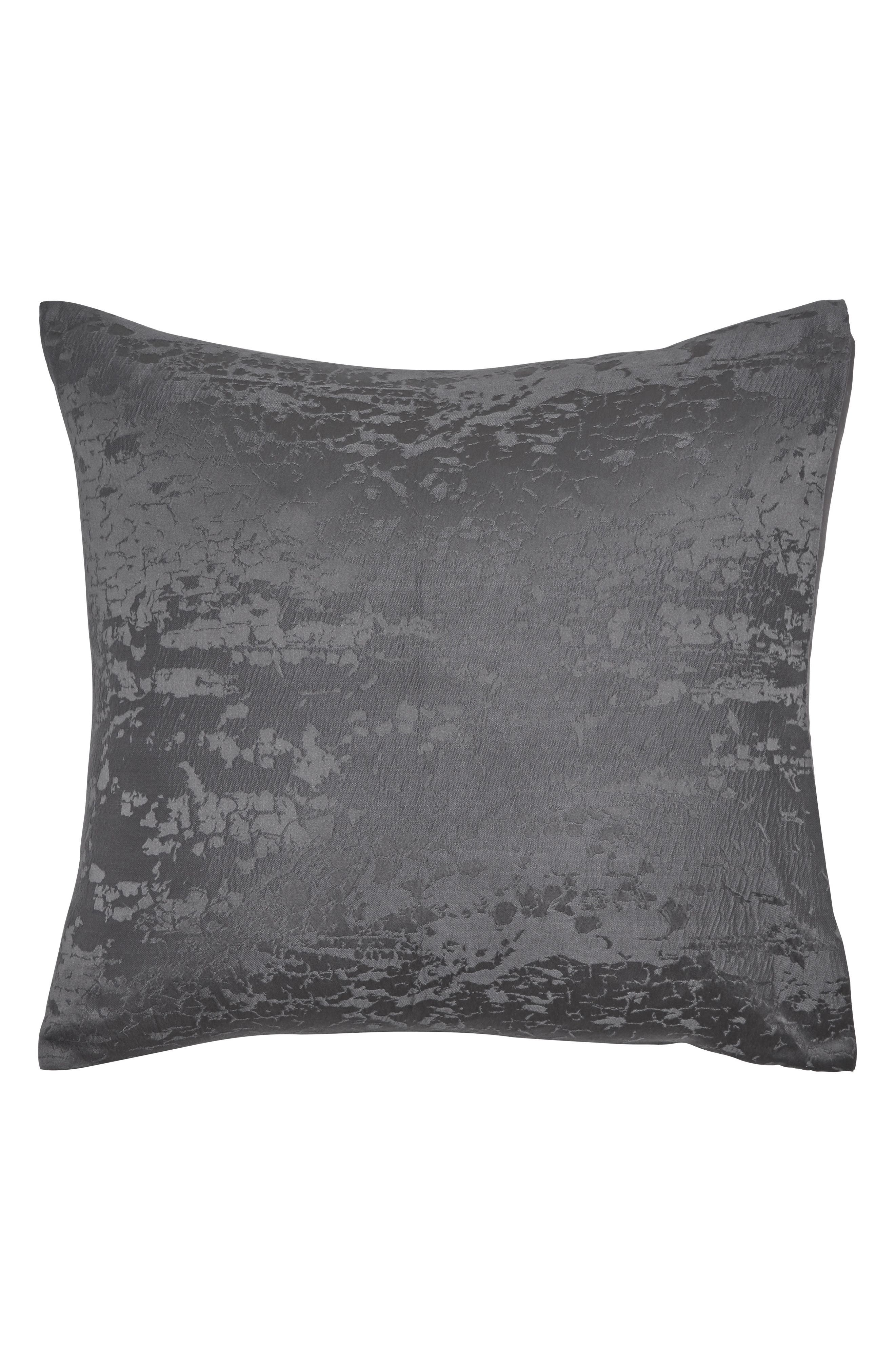 DONNA KARAN NEW YORK, Donna Karan Moonscape Euro Sham, Main thumbnail 1, color, CHARCOAL