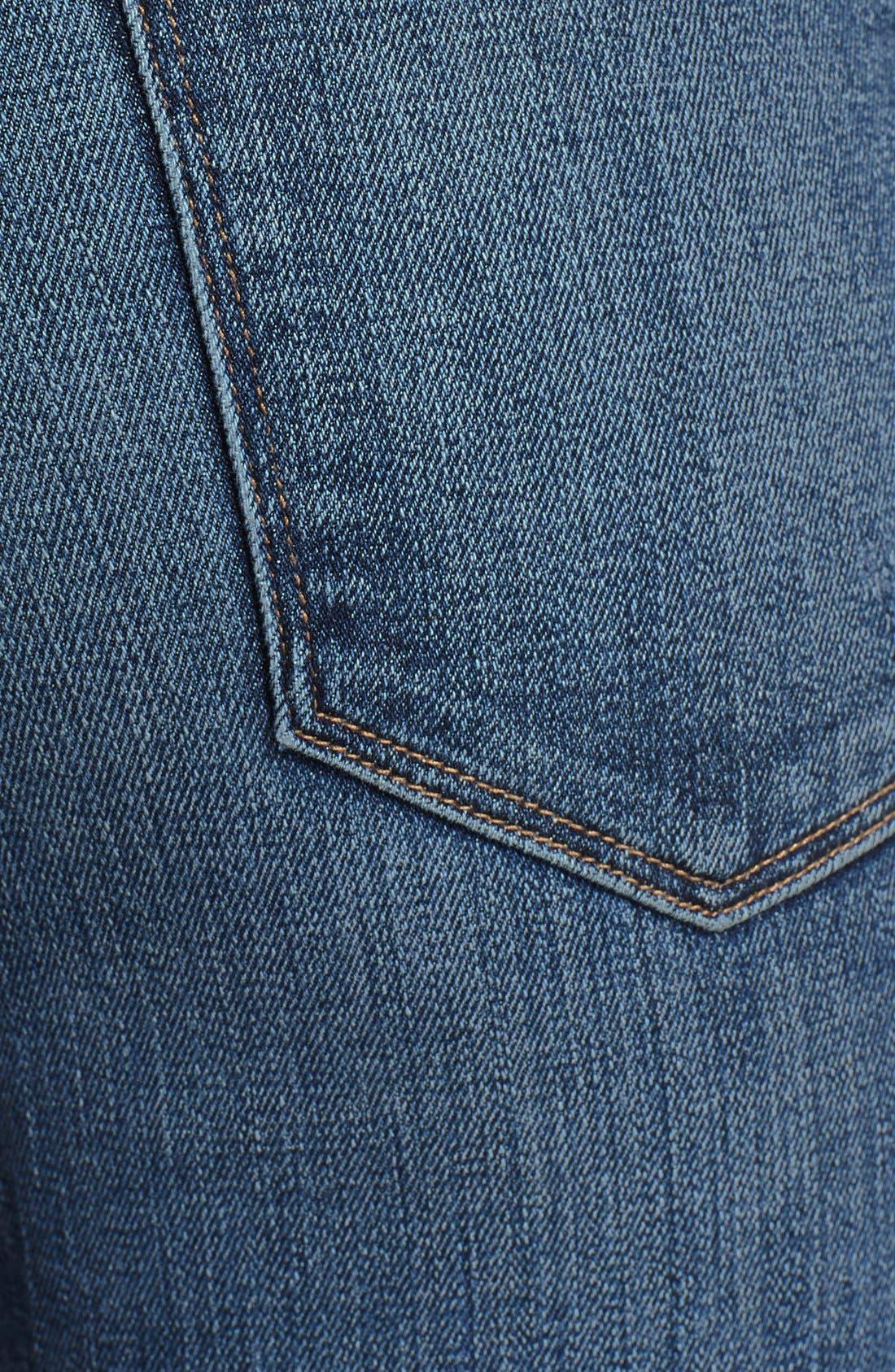 FRAME, Denim 'Le Skinny de Jeanne' Destroyed Jeans, Alternate thumbnail 2, color, 420