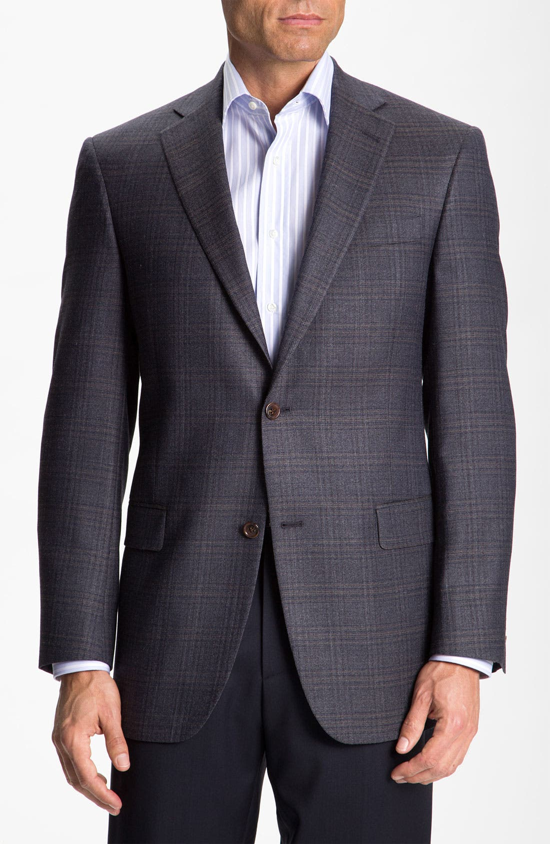 HART SCHAFFNER MARX Plaid Sportcoat, Main, color, 401