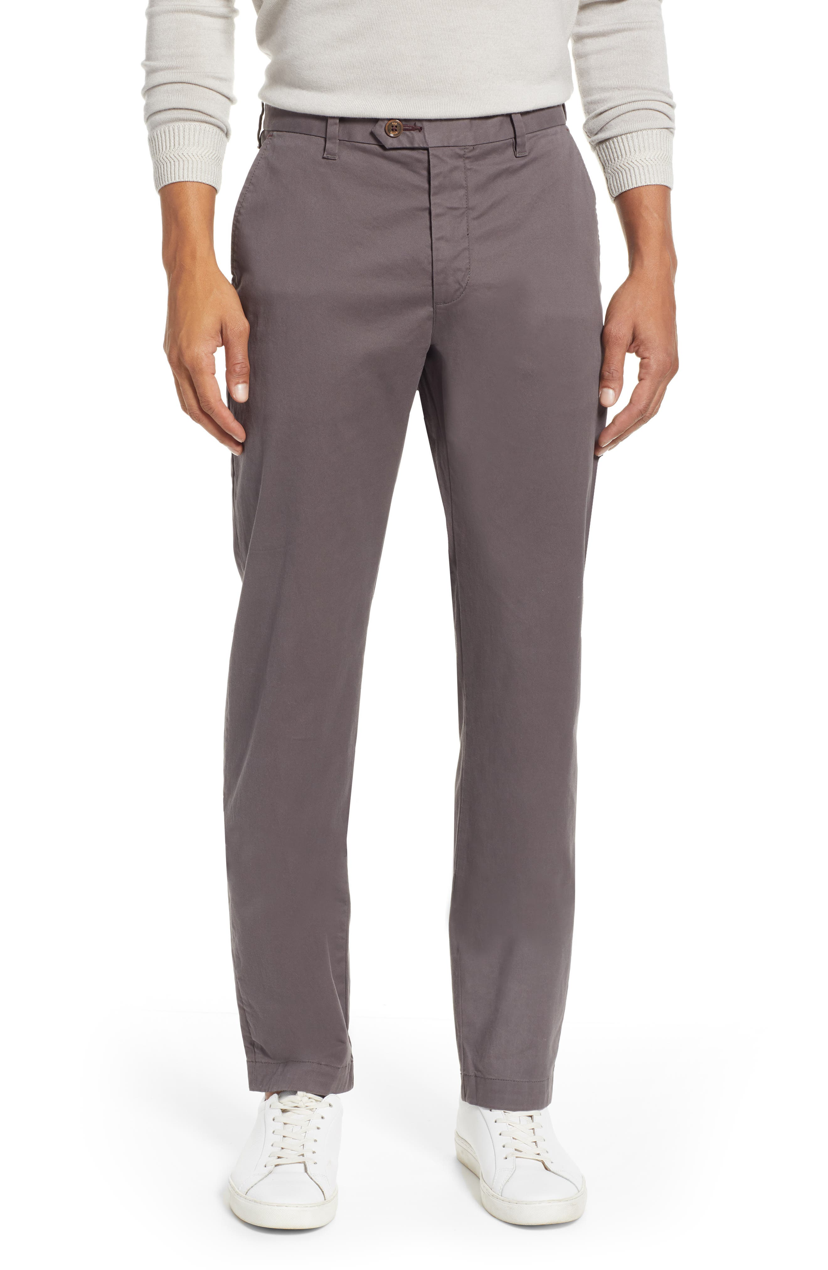 TED BAKER LONDON, Selebtt Slim Fit Stretch Cotton Chinos, Main thumbnail 1, color, 020