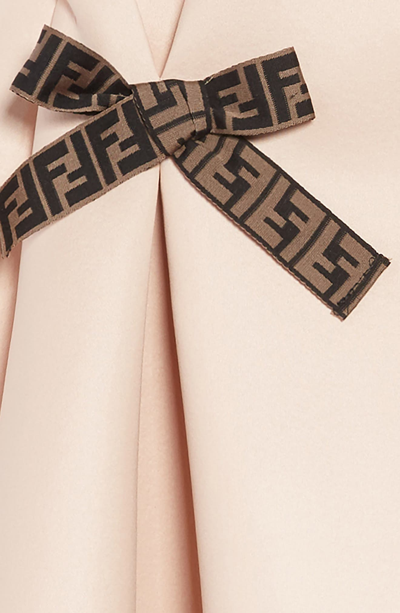 FENDI, Bow Detail Dress, Alternate thumbnail 3, color, F0JE6 PEACH