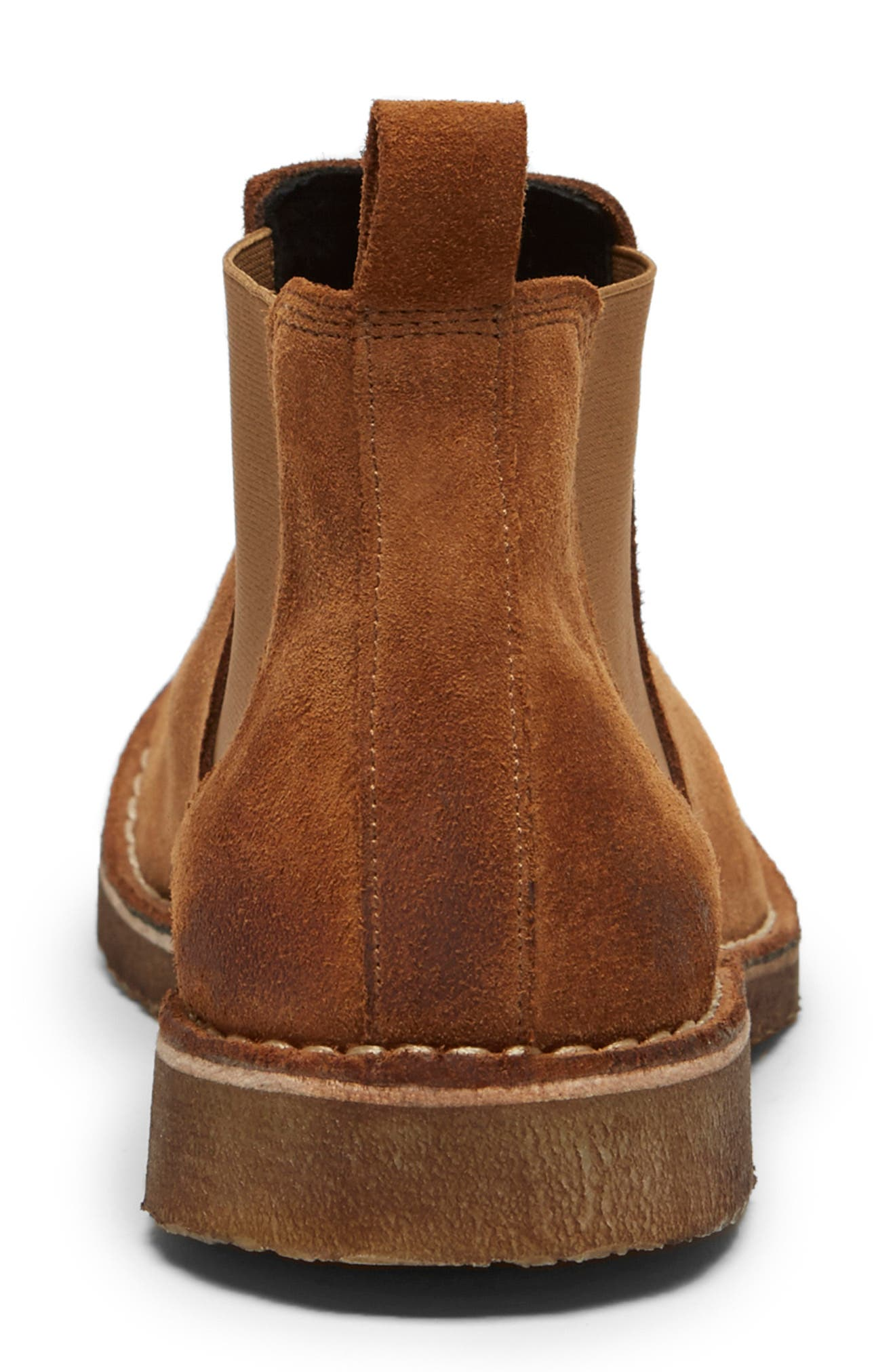 KENNETH COLE NEW YORK, Hewitt Chelsea Boot, Alternate thumbnail 3, color, RUST SUEDE