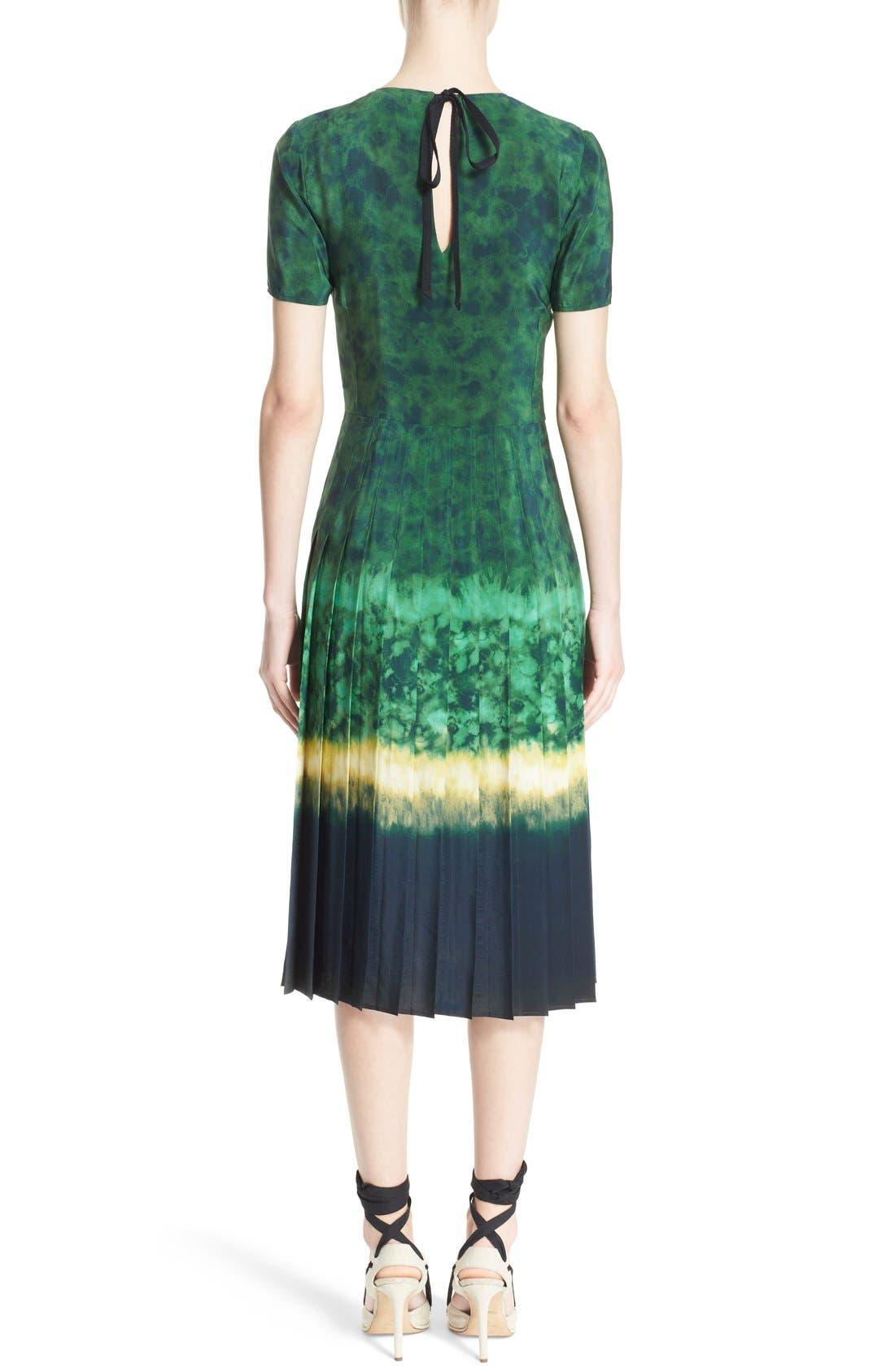 ALTUZARRA, 'Ilari' Rope Closure Dip Dye Dress, Alternate thumbnail 3, color, 340