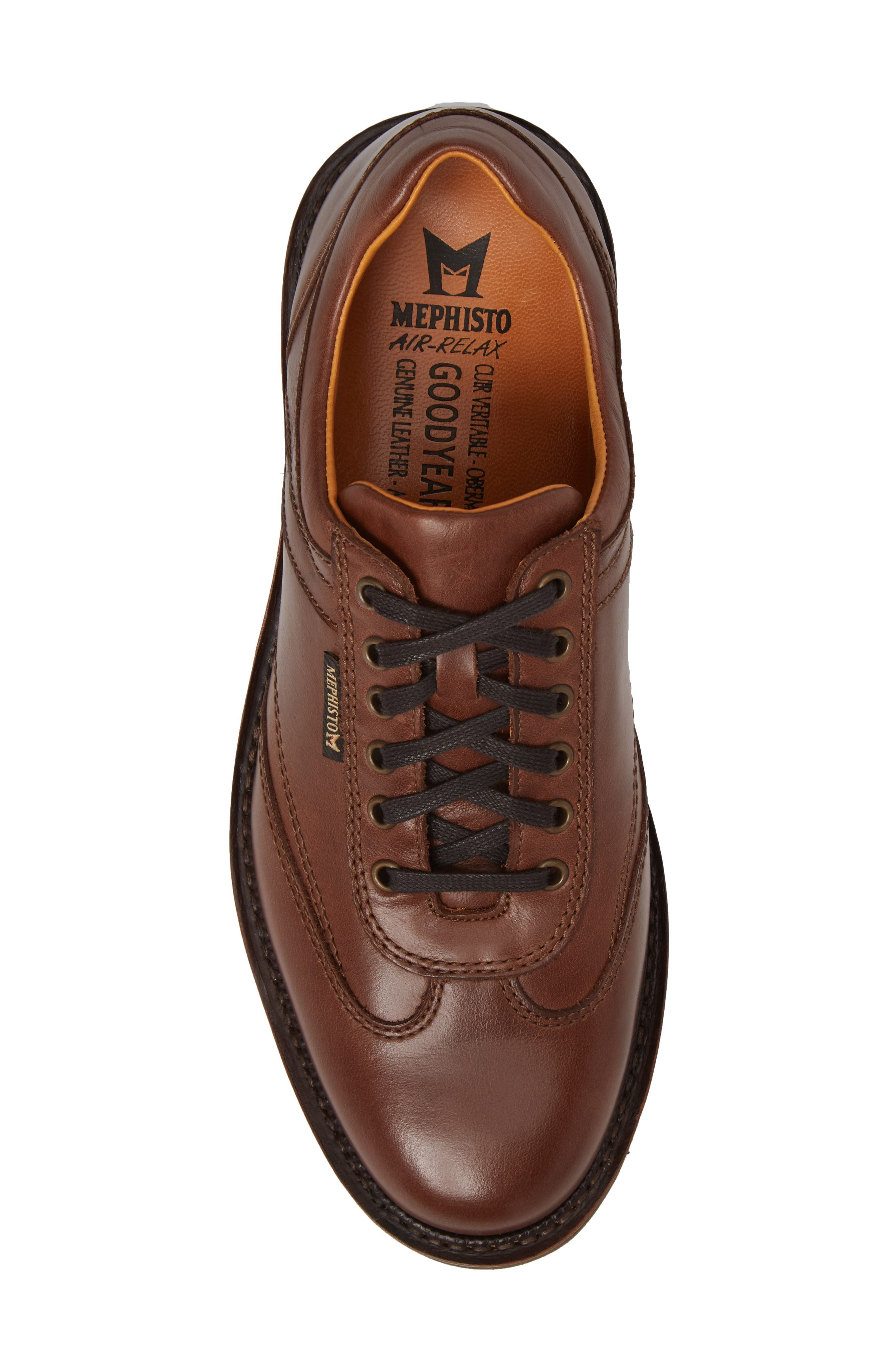 MEPHISTO, Adriano Sneaker, Alternate thumbnail 5, color, CHESTNUT LEATHER