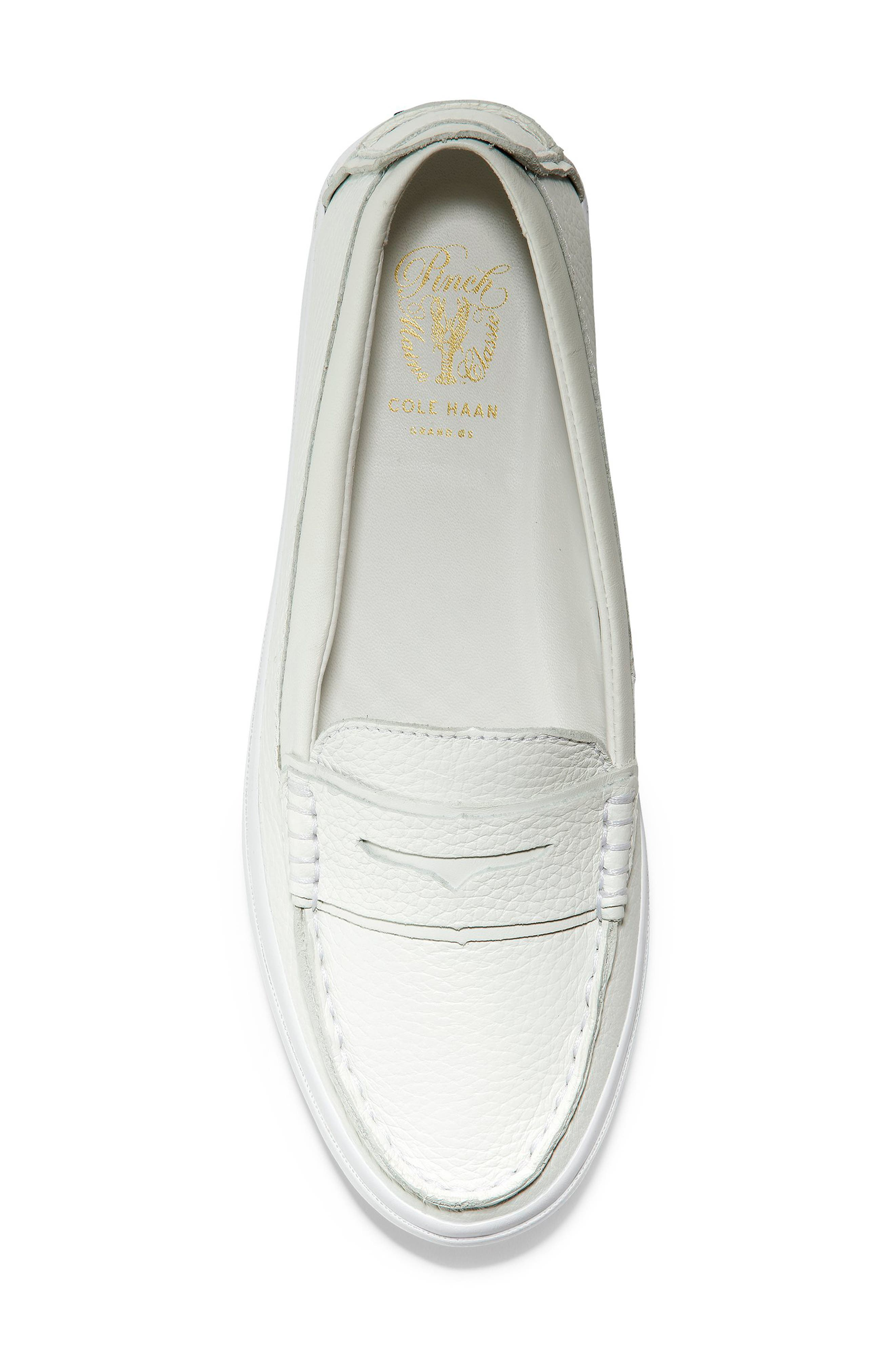 COLE HAAN, Pinch LX Loafer, Alternate thumbnail 5, color, OPTIC WHITE LEATHER