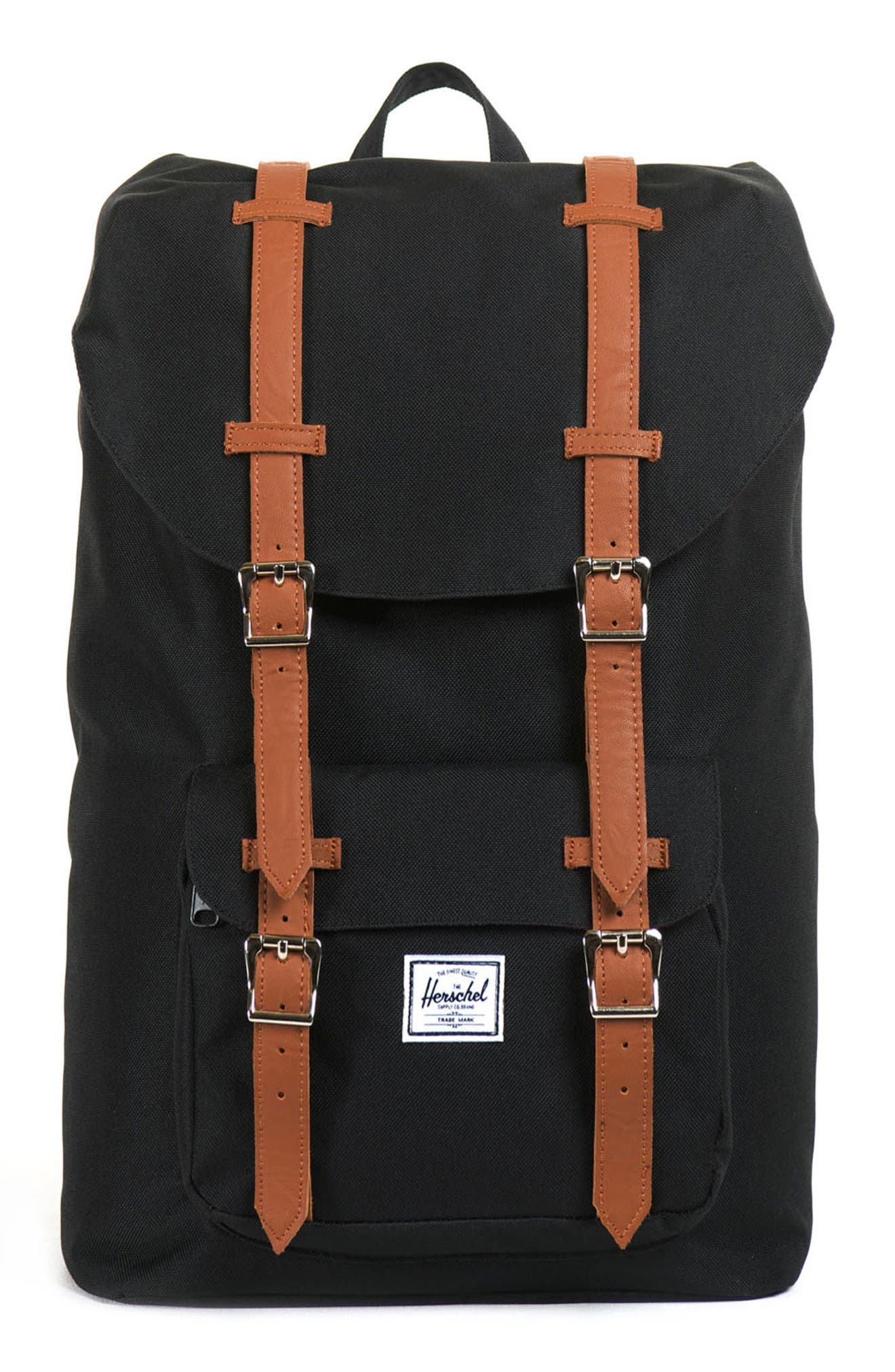 HERSCHEL SUPPLY CO., Little America - Mid Volume Backpack, Main thumbnail 1, color, BLACK