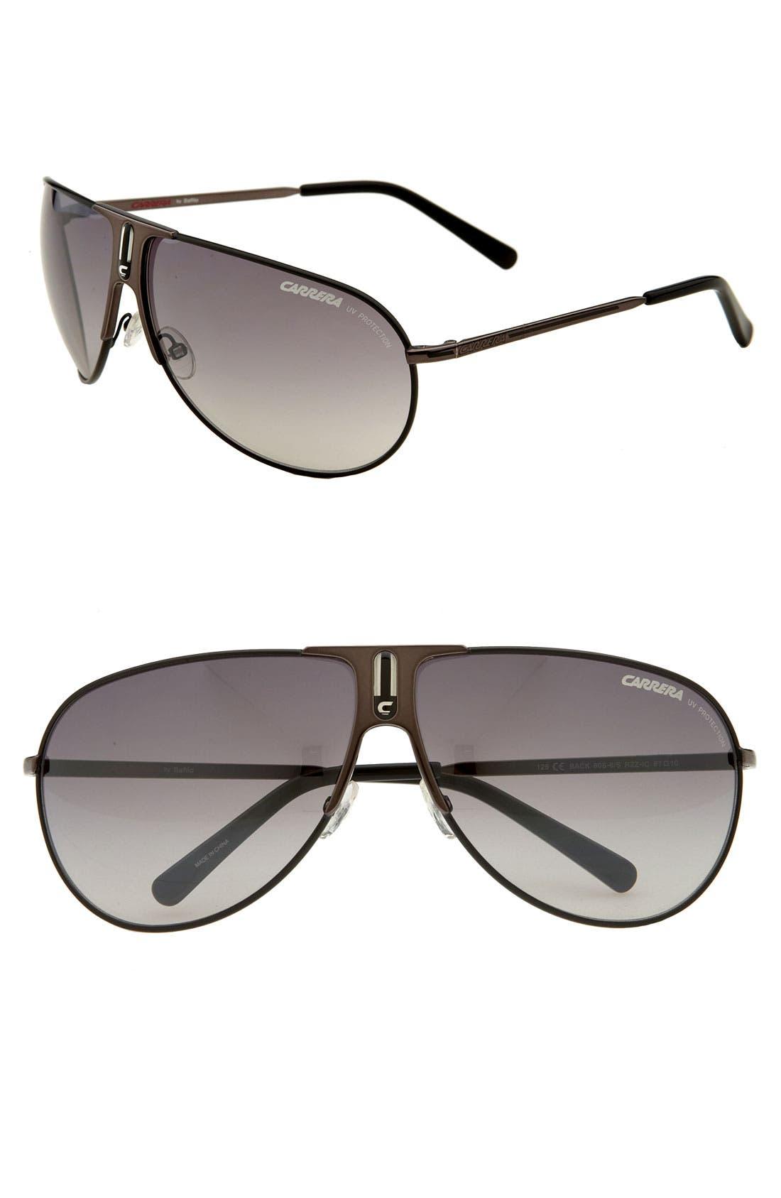 CARRERA EYEWEAR, 'Back 80s' Vintage Inspired Aviator Sunglasses, Main thumbnail 1, color, 001