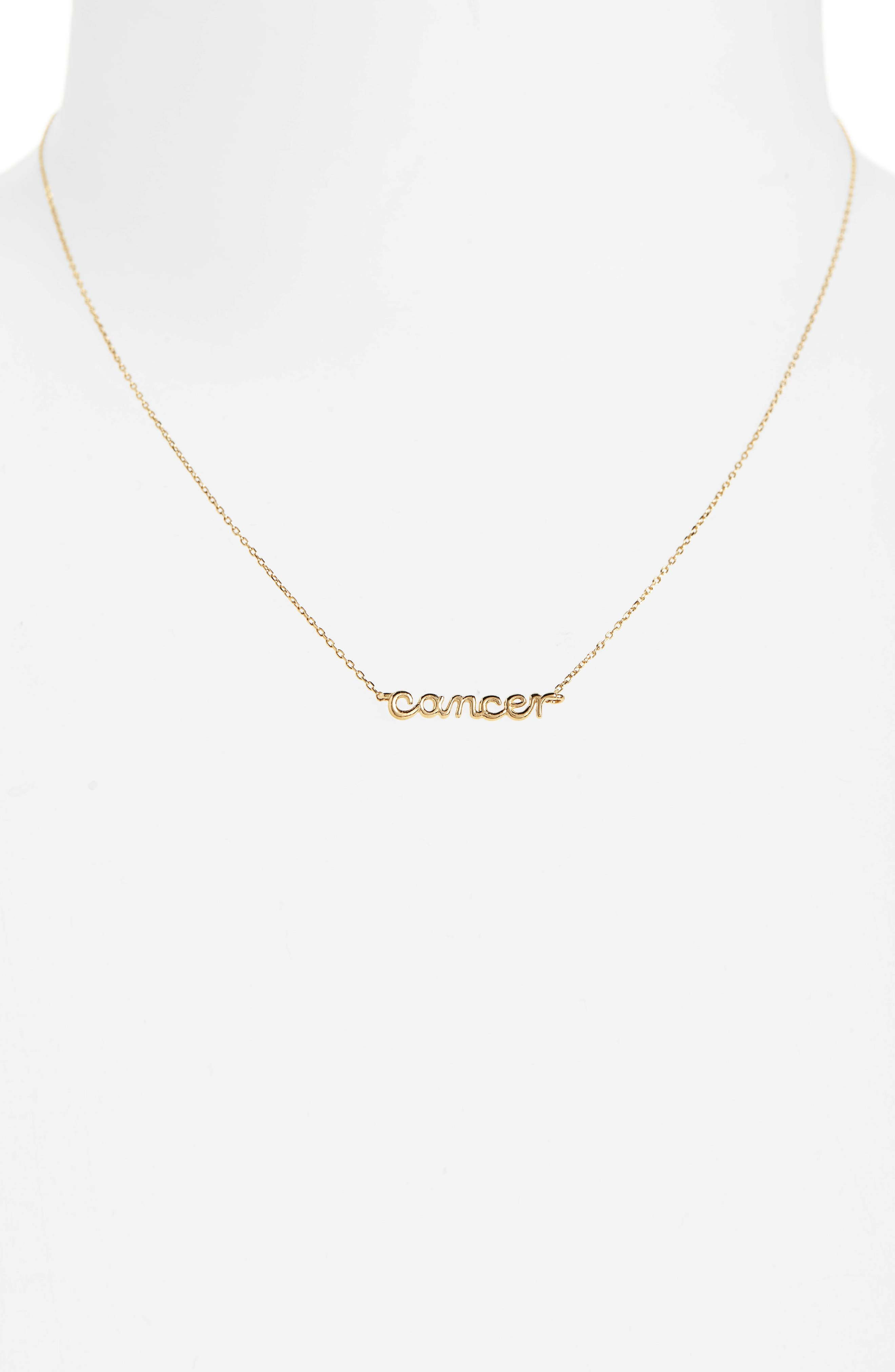 MADEWELL, Vermeil Astrological Sign Necklace, Alternate thumbnail 2, color, 710